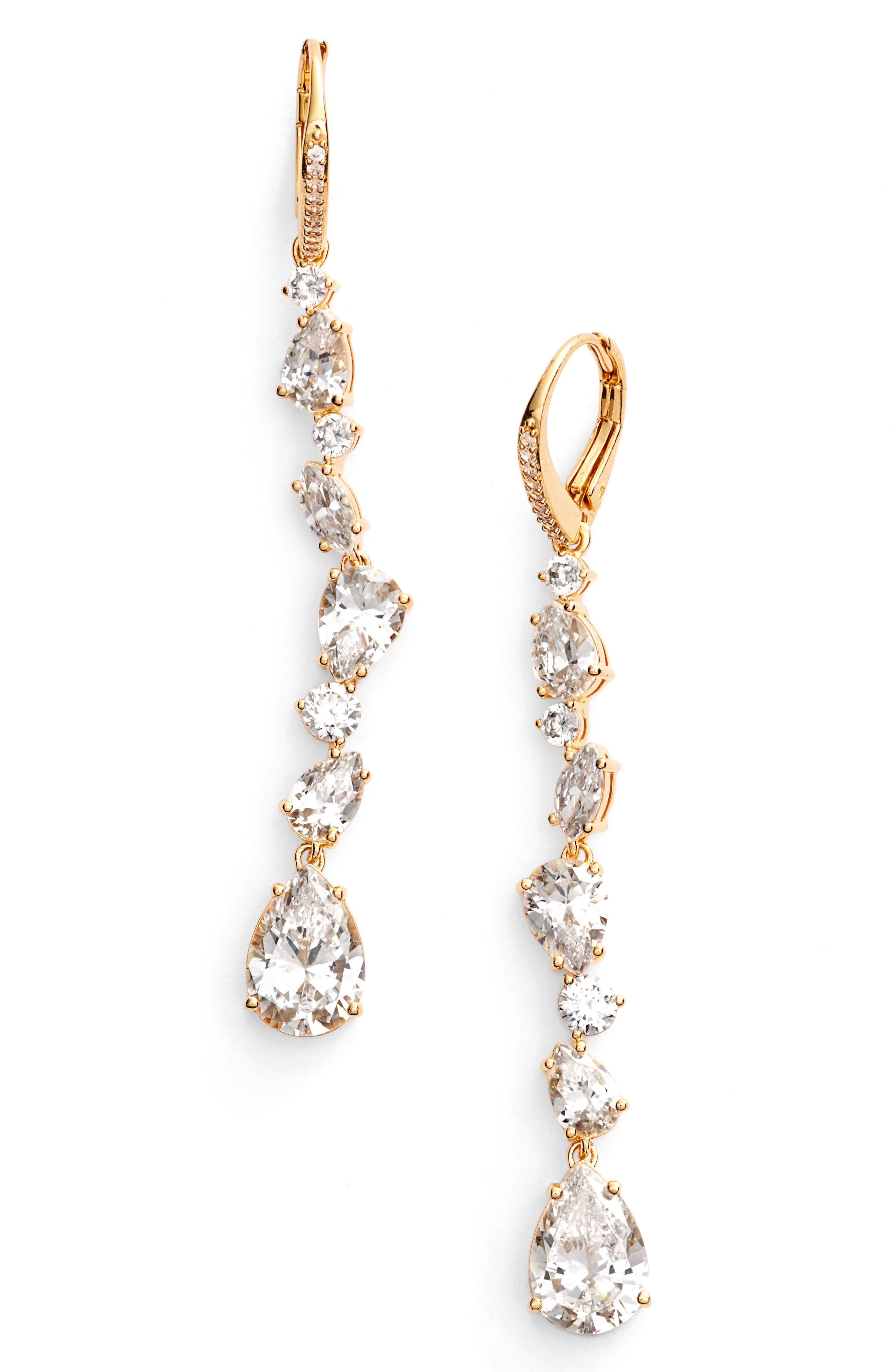 Nadri Ava Linear Drop Earrings