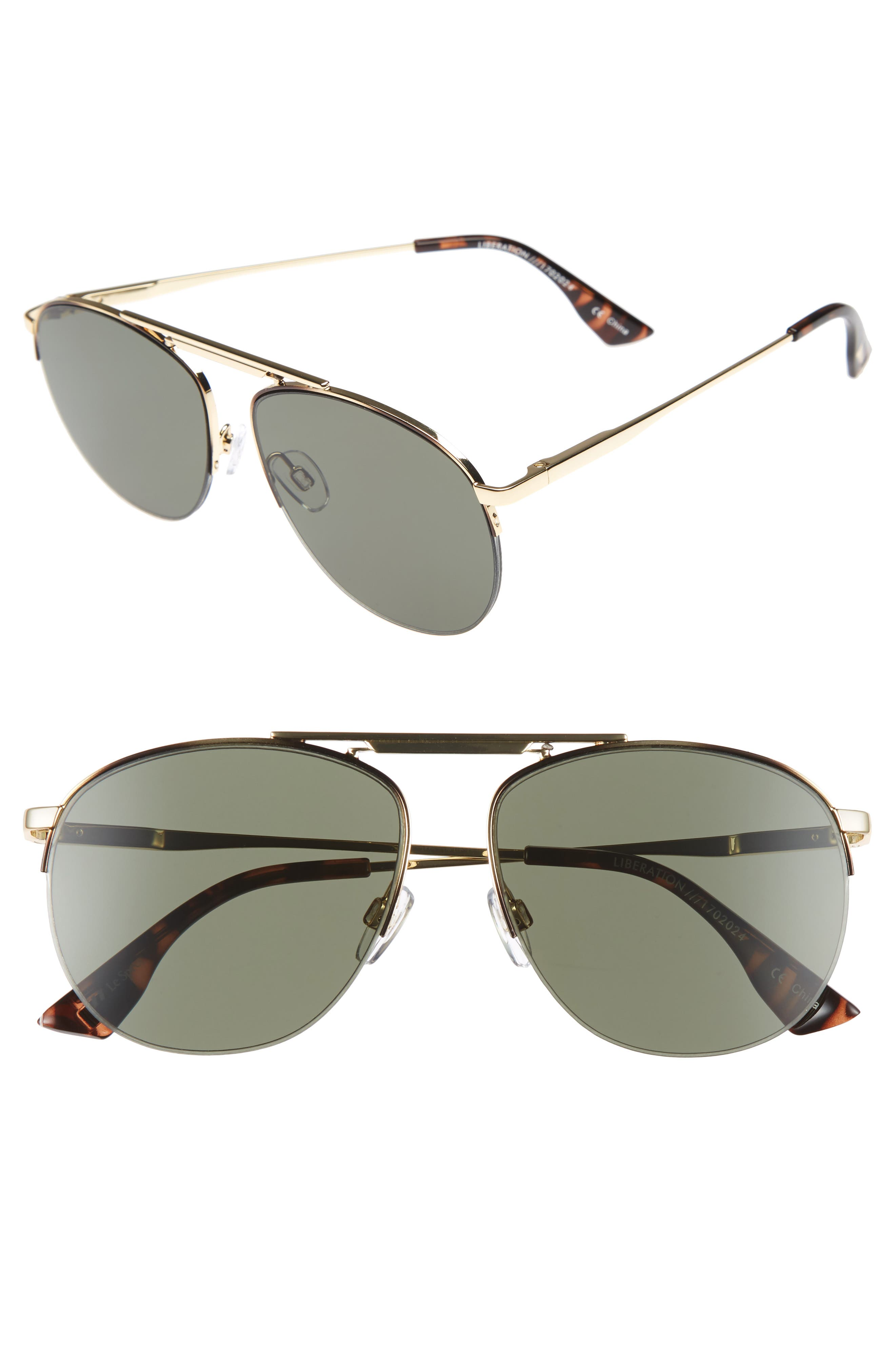 Alternate Image 1 Selected - Le Specs Liberation 57mm Aviator Sunglasses