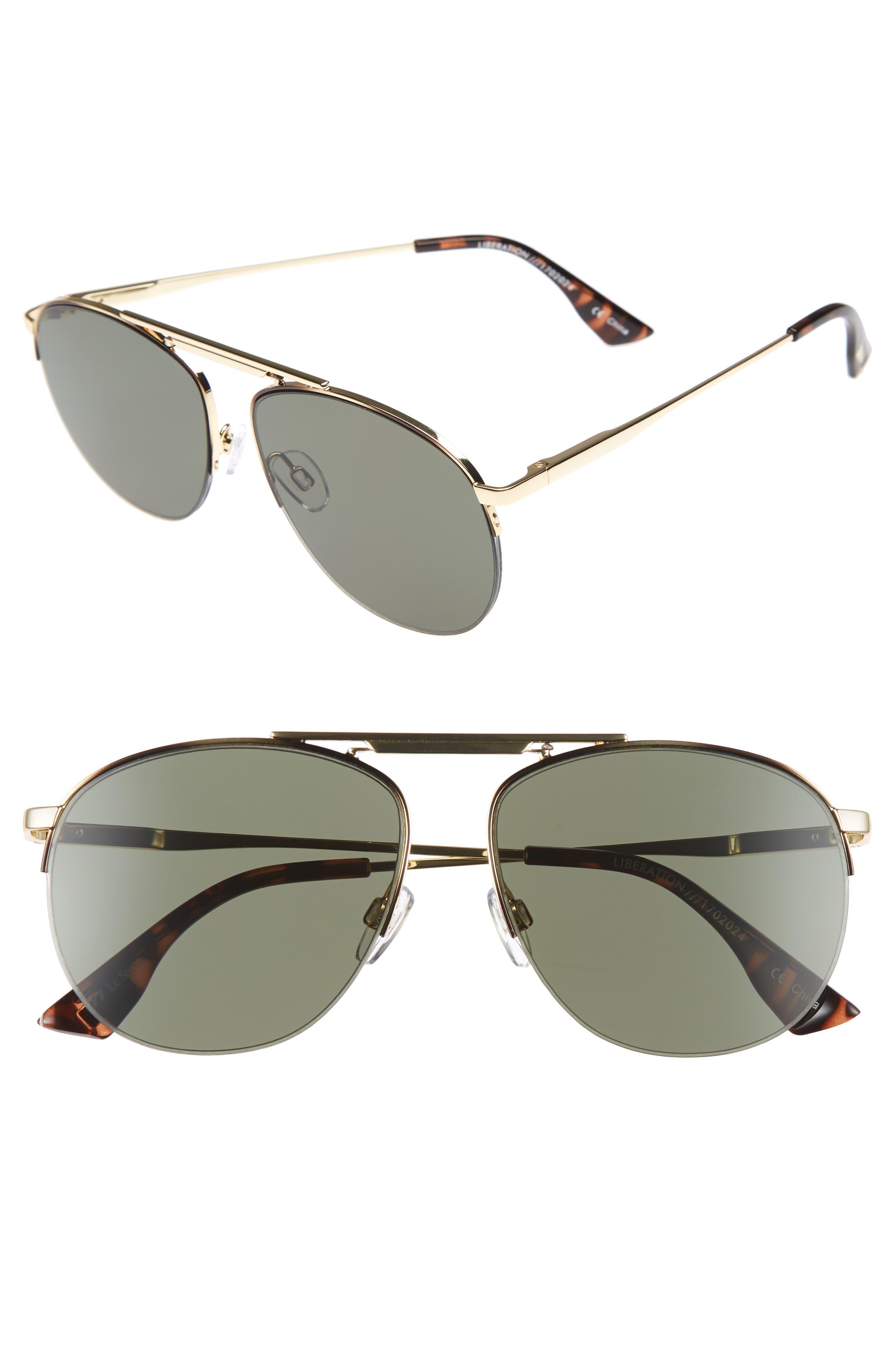 Main Image - Le Specs Liberation 57mm Aviator Sunglasses