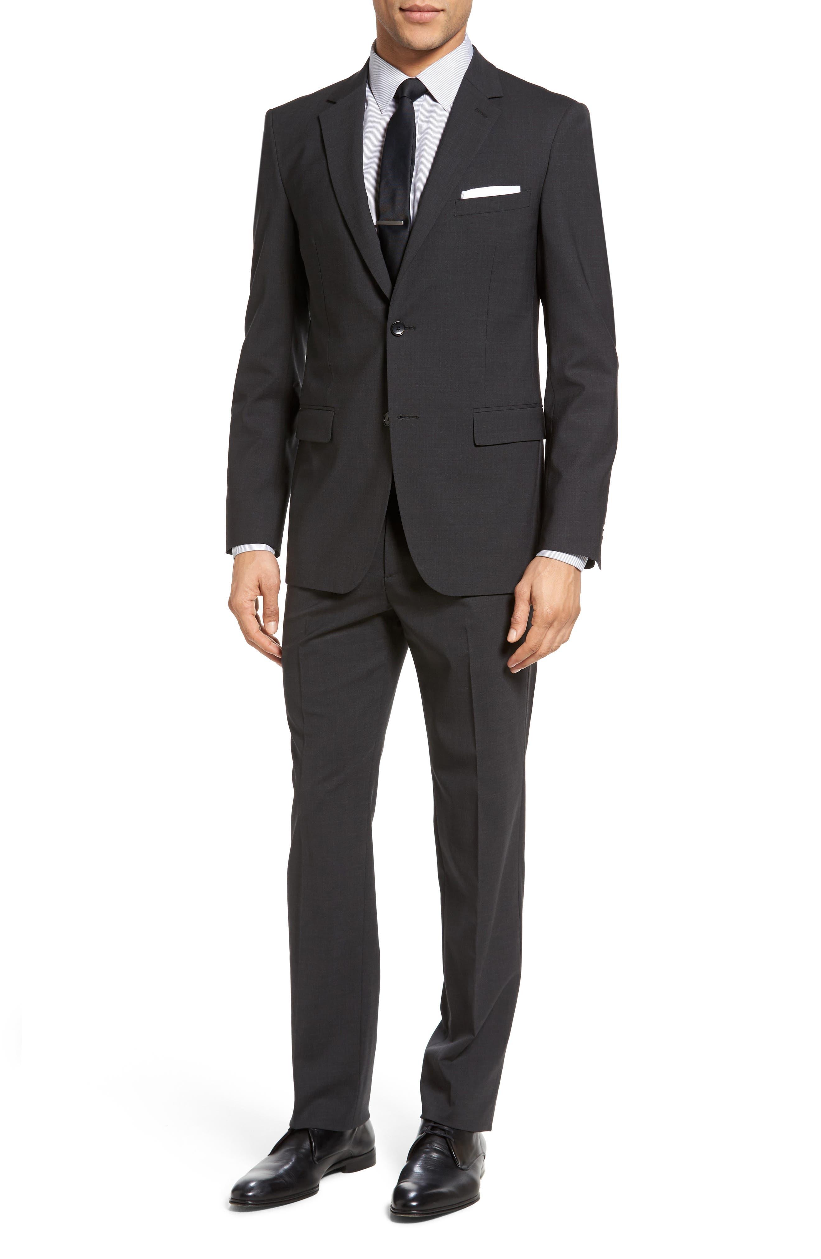 Wellar New Tailor 1 Trim Fit Stretch Wool Sport Coat,                             Alternate thumbnail 6, color,                             Dark Charcoal