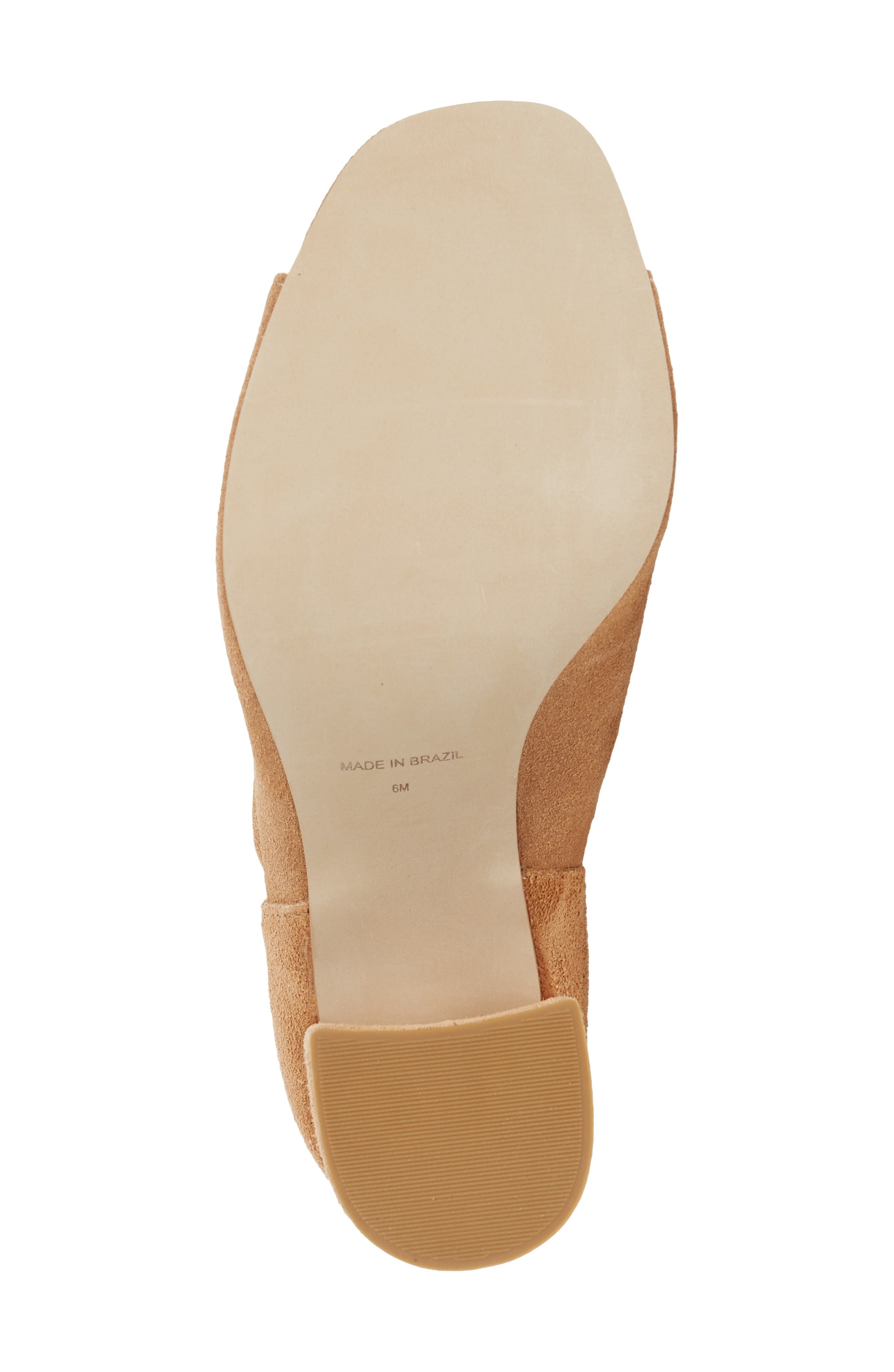 Gordy Peeptoe Bootie,                             Alternate thumbnail 4, color,                             Natural Suede