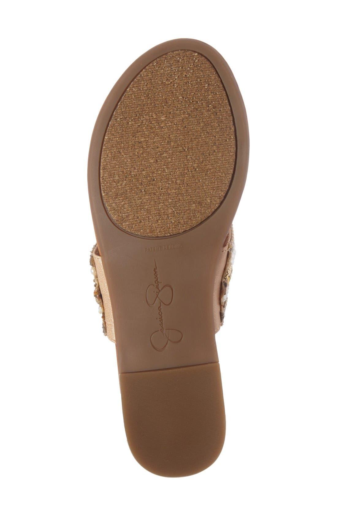 Alternate Image 4  - Jessica Simpson Ronette Embellished Flip Flop (Women)