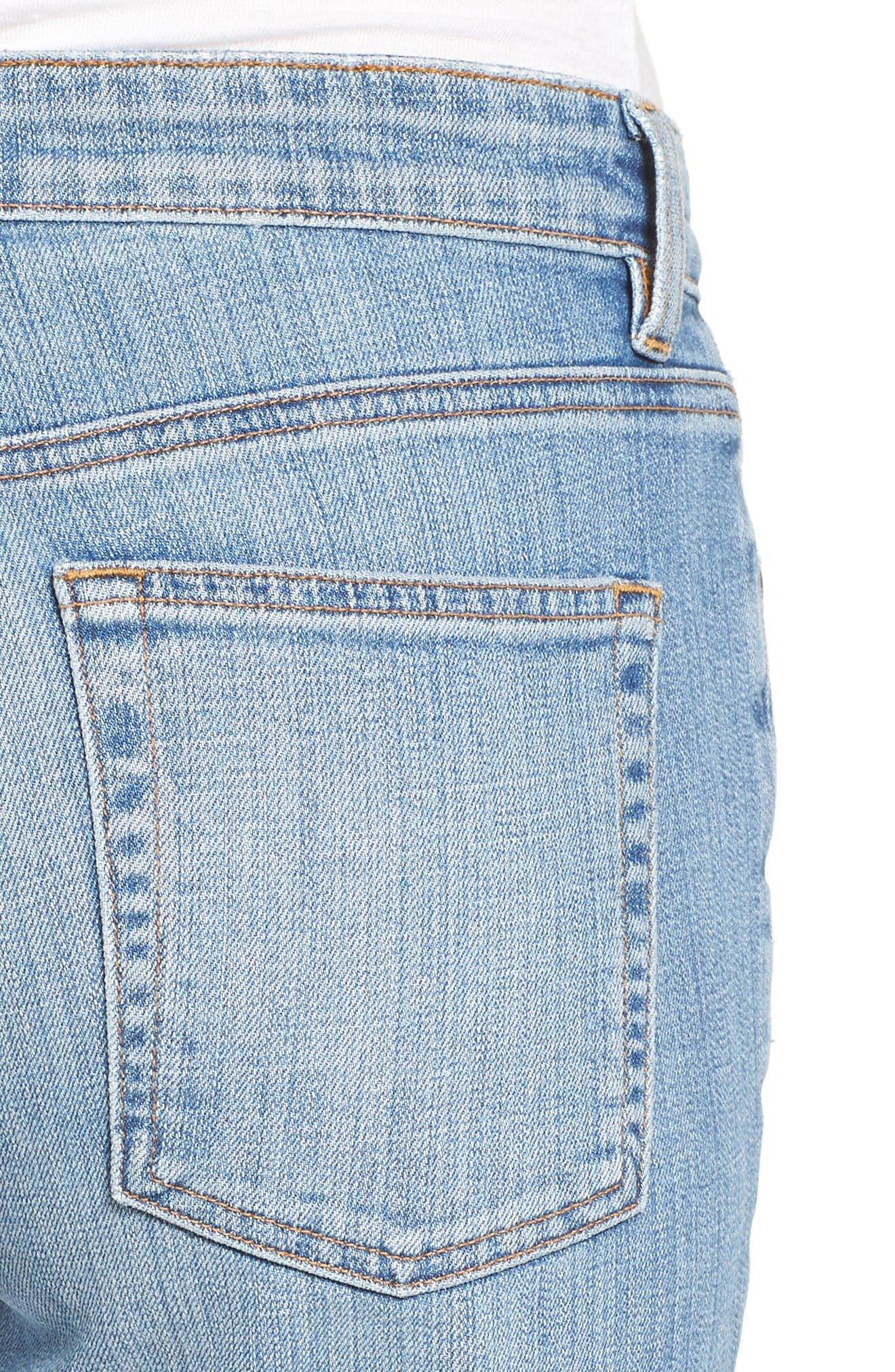 Organic Cotton Boyfriend Jeans,                             Alternate thumbnail 4, color,                             Sky Blue