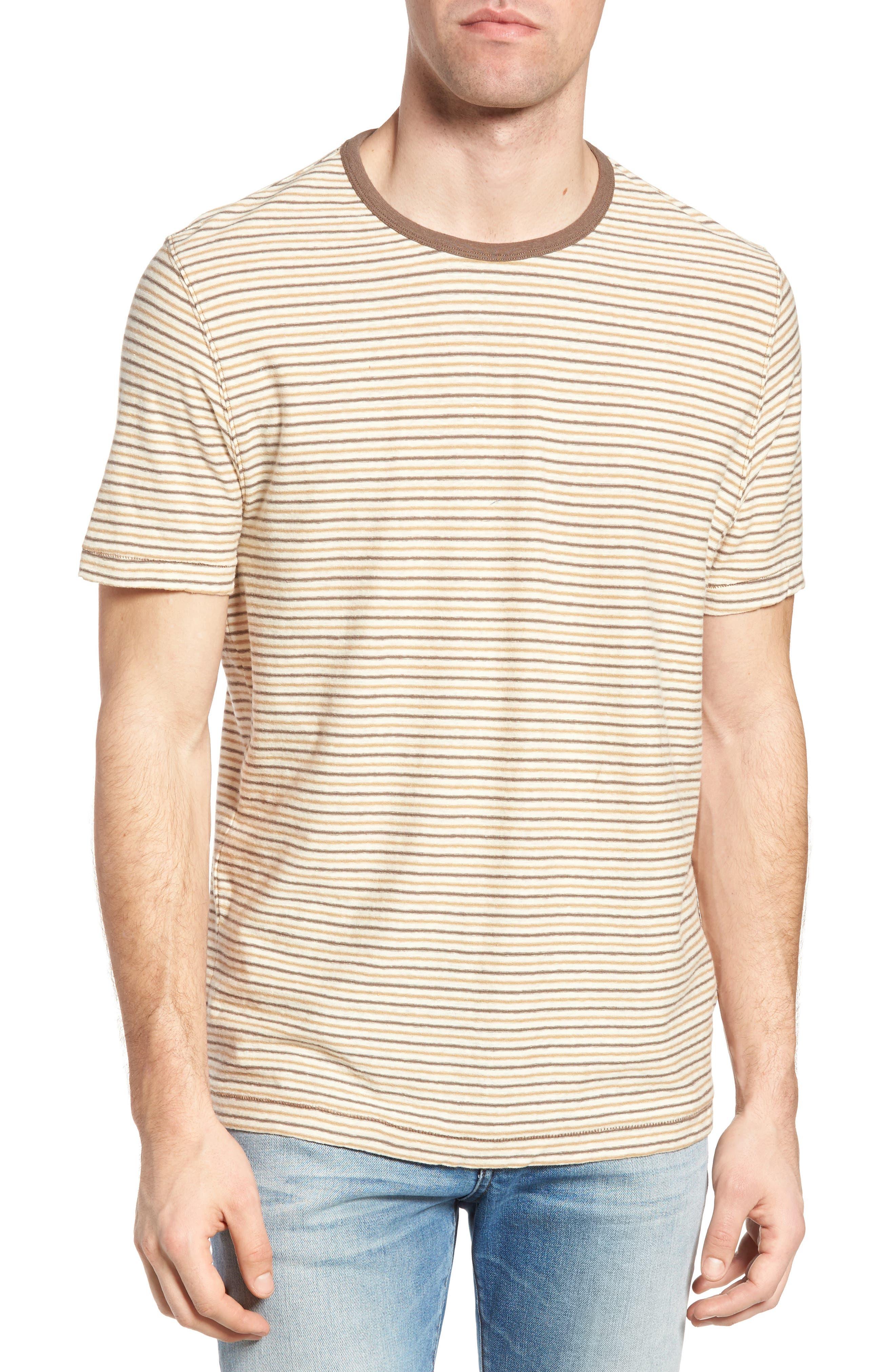 Bengal Reverse Stripe T-Shirt,                             Main thumbnail 1, color,                             Angora