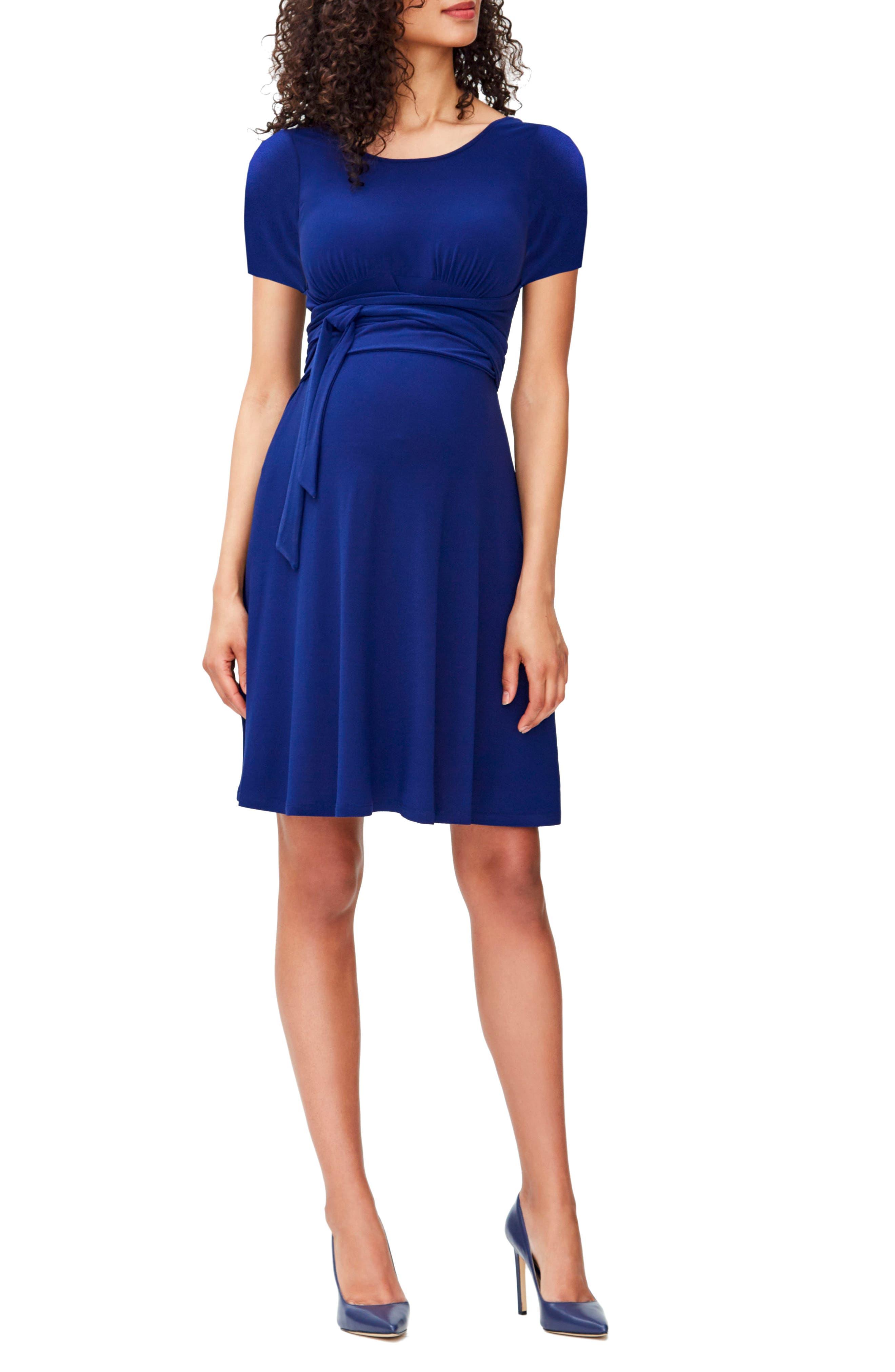 Leota Brittany Wrap Tie Maternity Dress