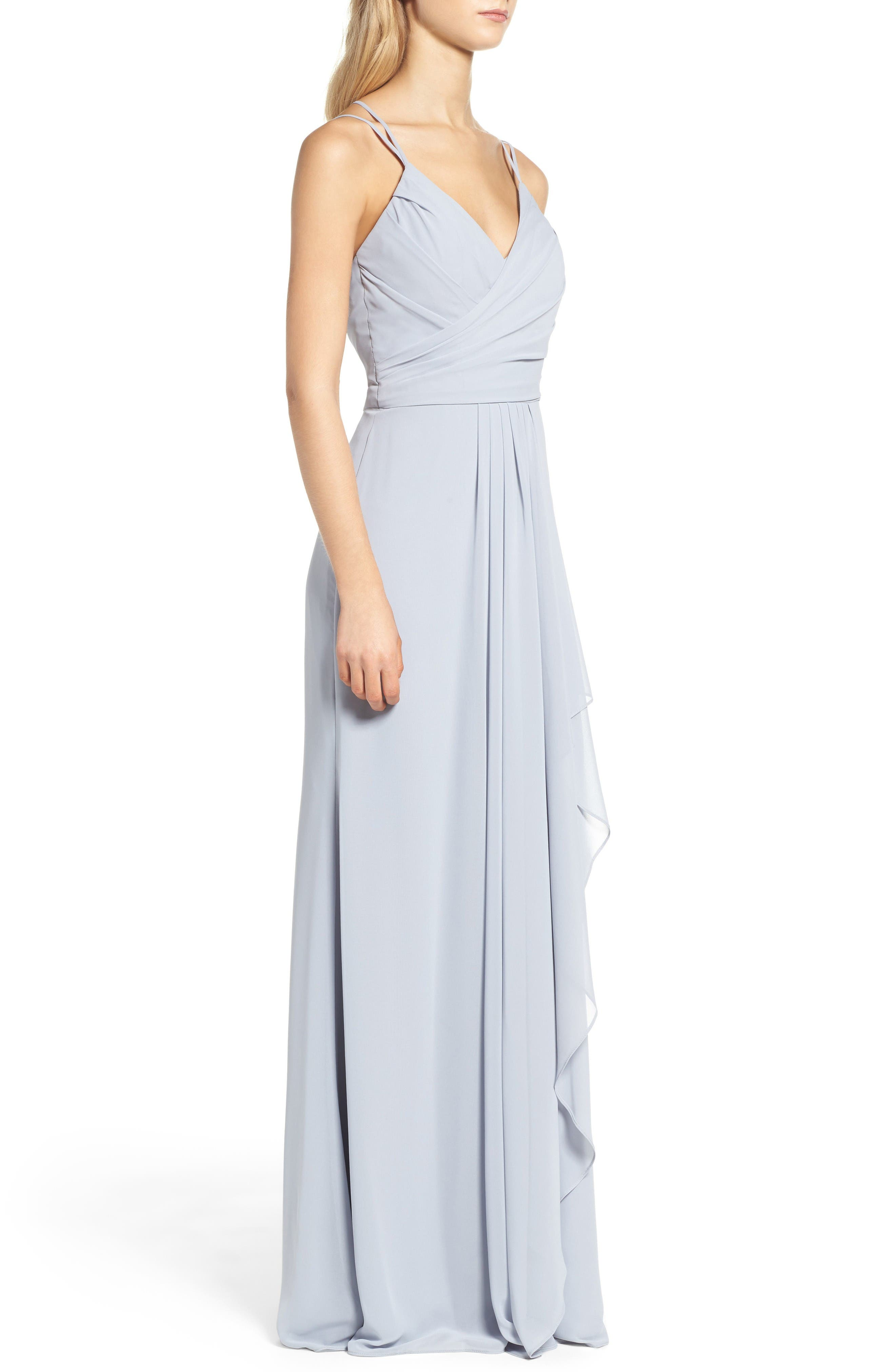 Alternate Image 3  - Hayley Paige Occasions Chiffon Gown