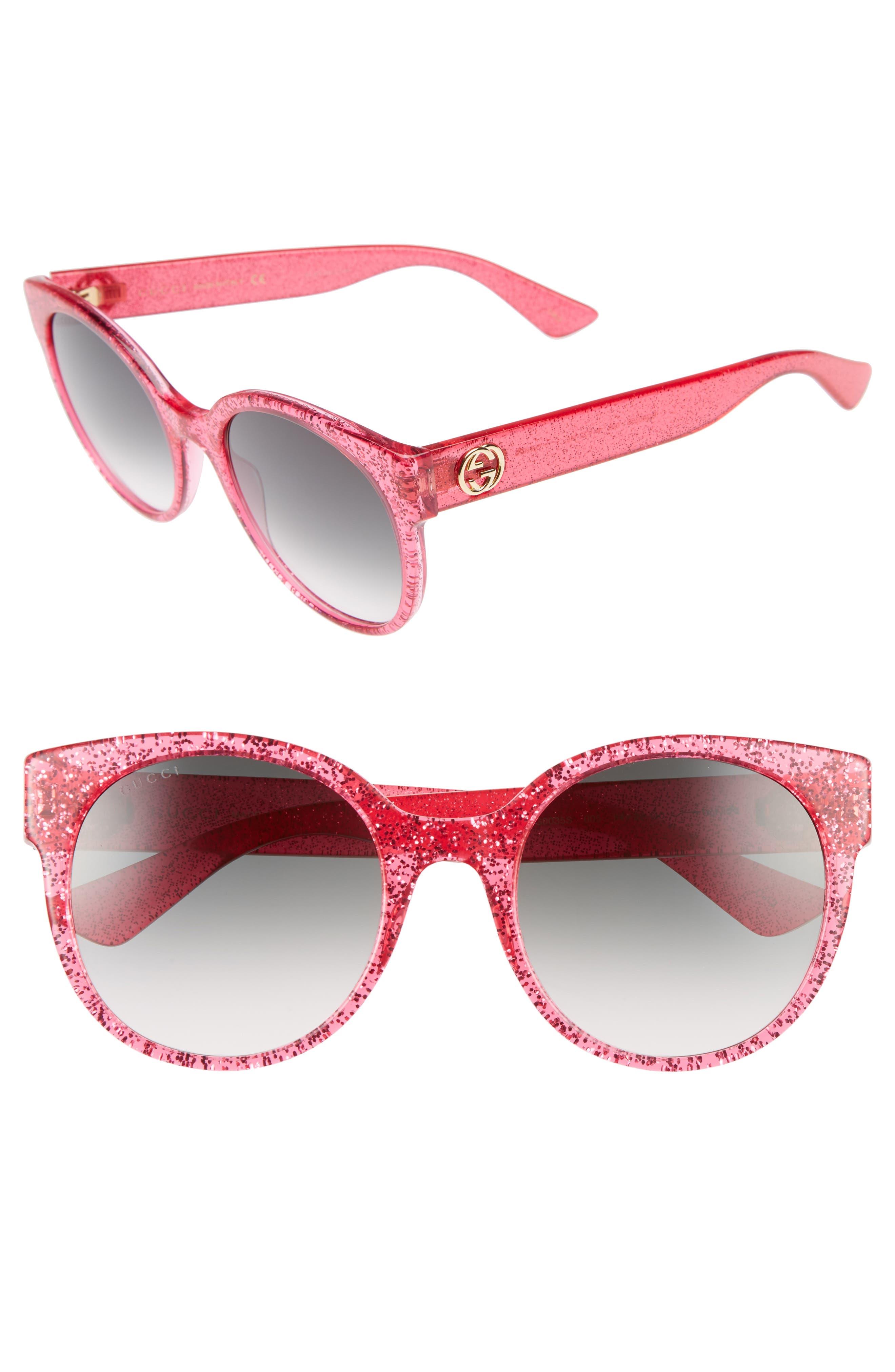 GUCCI 54mm Glitter Sunglasses