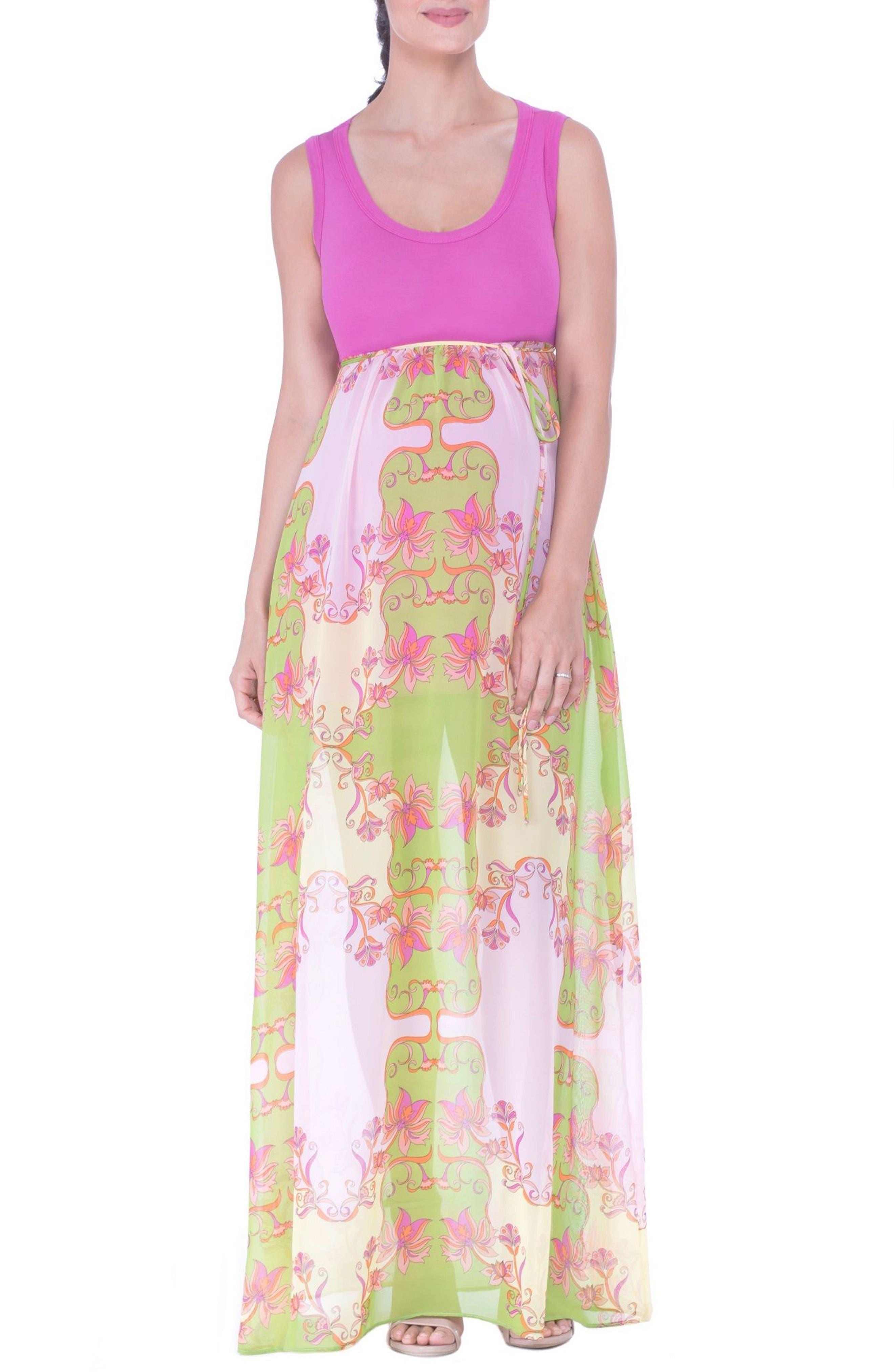 Alternate Image 1 Selected - Olian Maternity Maxi Dress