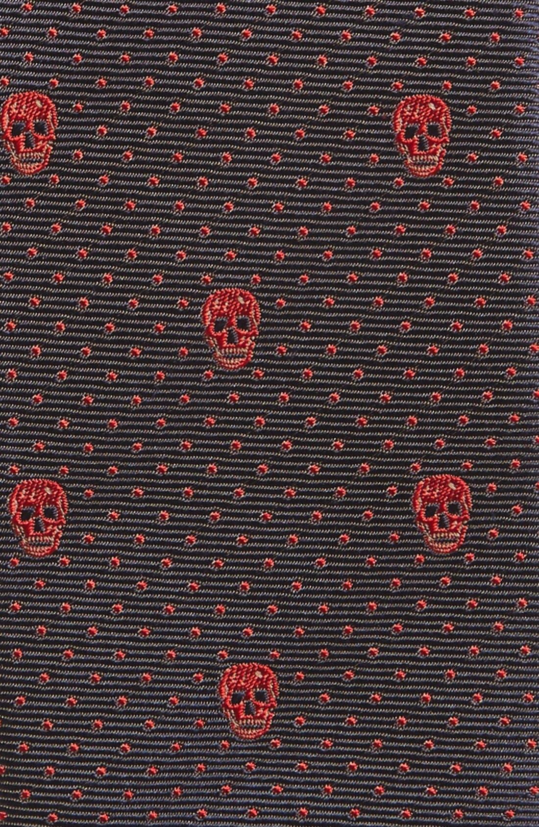Alternate Image 2  - Alexander McQueen Woven Silk Tie