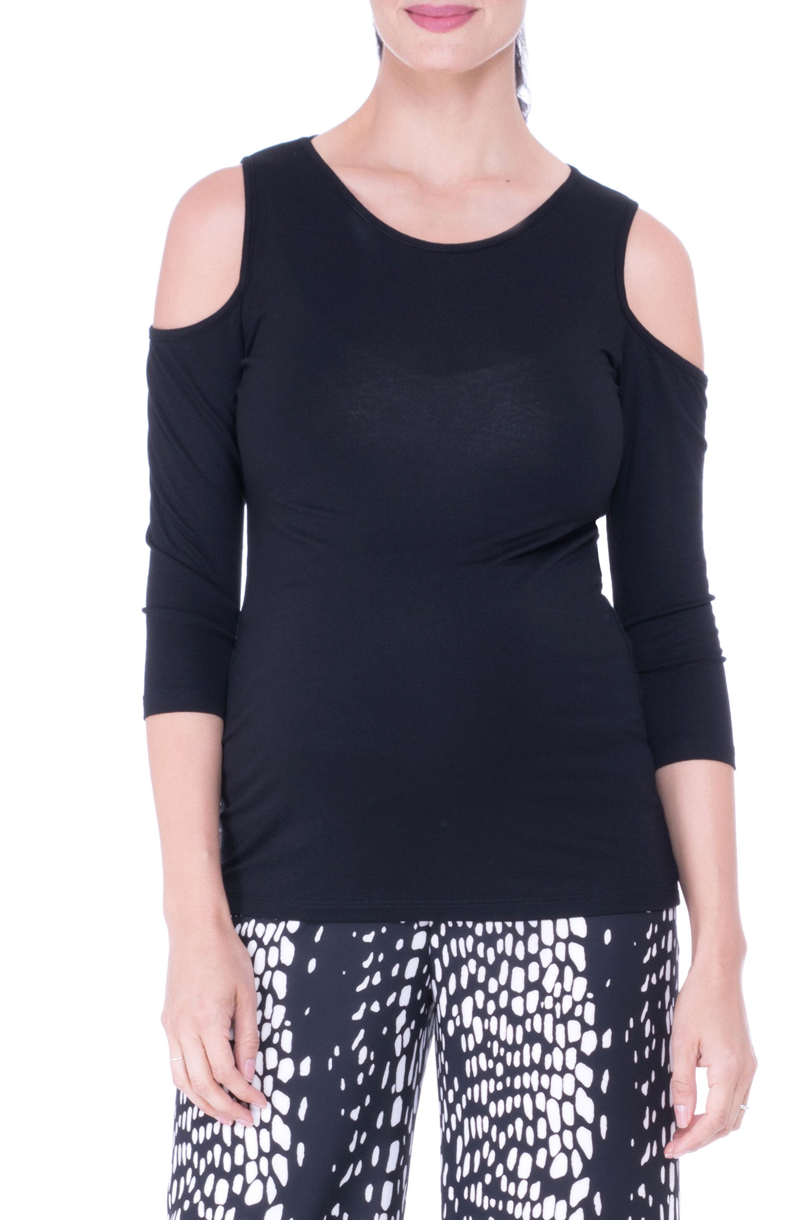 Main Image - Olian Cold Shoulder Maternity Top