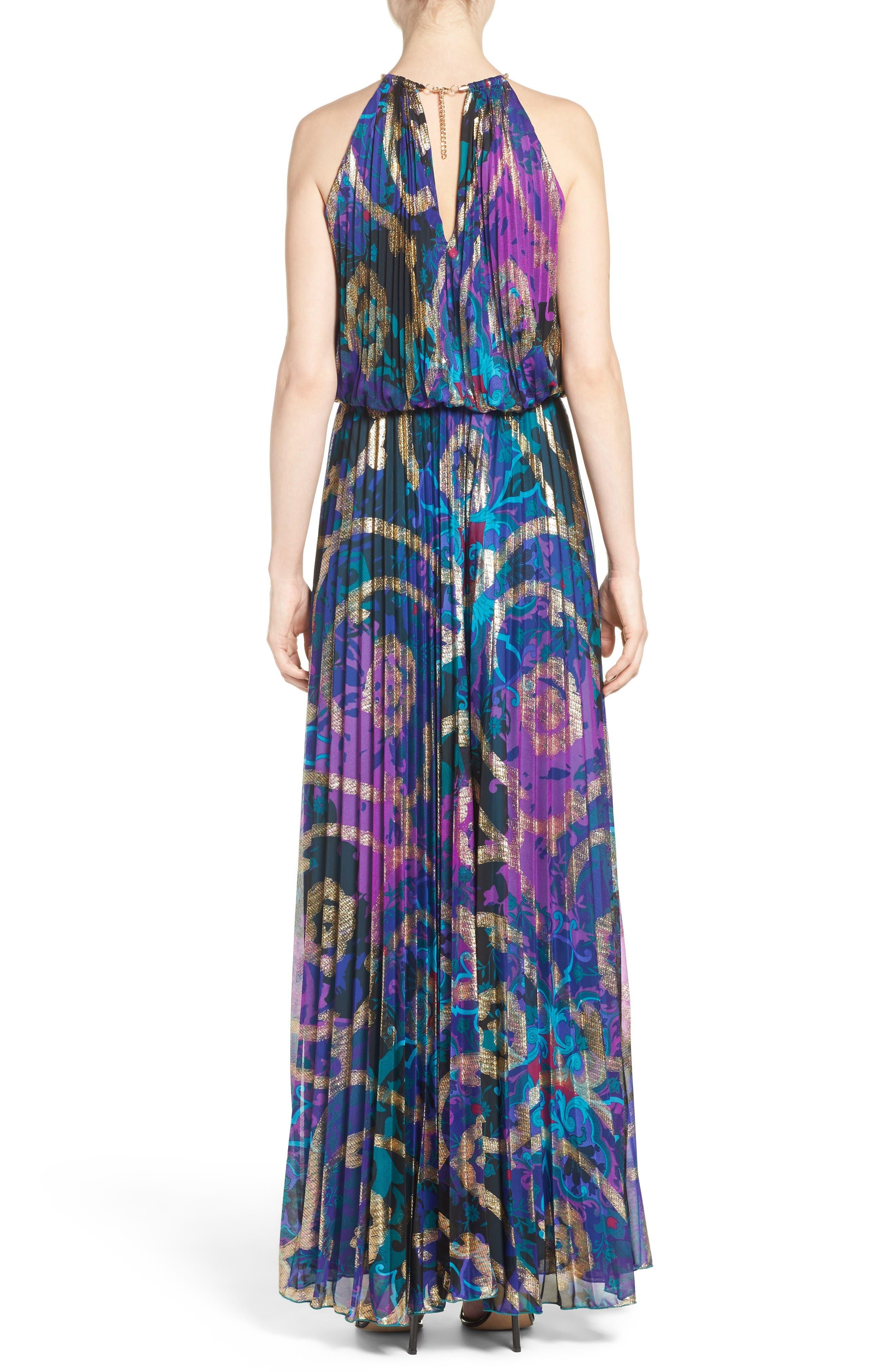 Alternate Image 2  - Xscape Pleated Blouson Gown