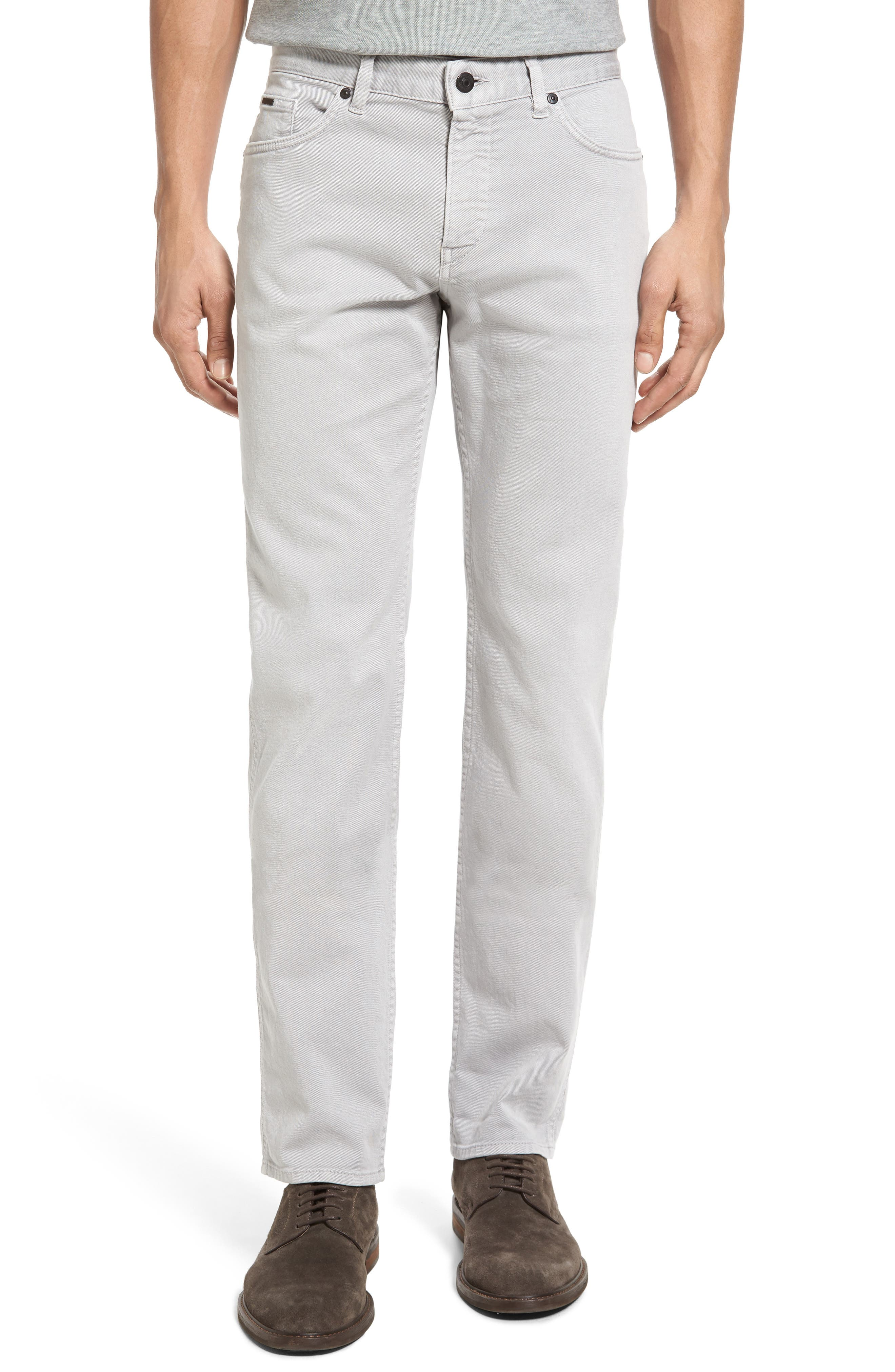 Alternate Image 1 Selected - BOSS Delaware Grey Slim Fit Jeans