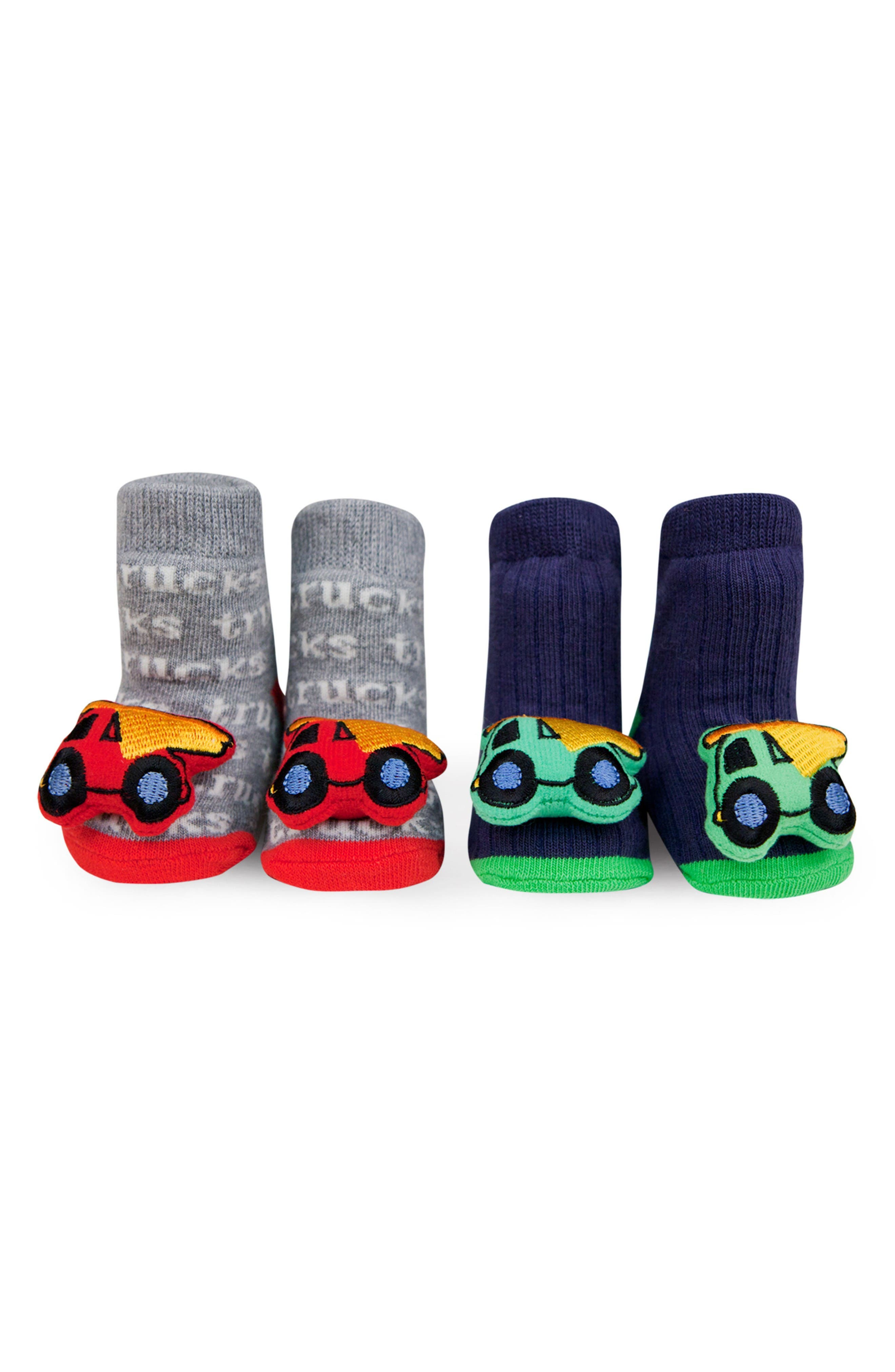 & Friends 2-Pack Vehicle Rattle Socks,                             Main thumbnail 1, color,                             Red/ Blue
