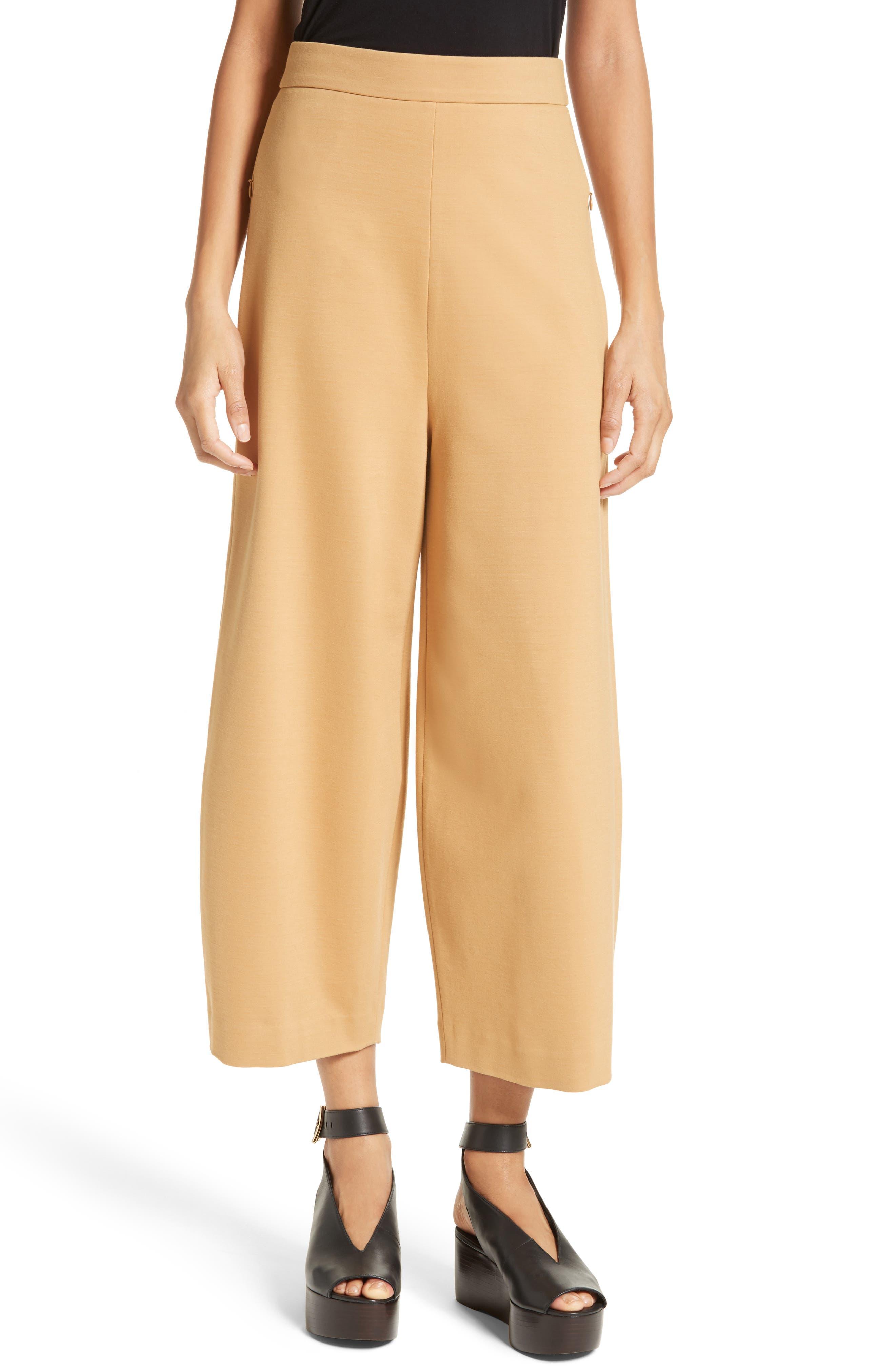 Main Image - Tibi High Rise Knit Crop Wide Leg Pants