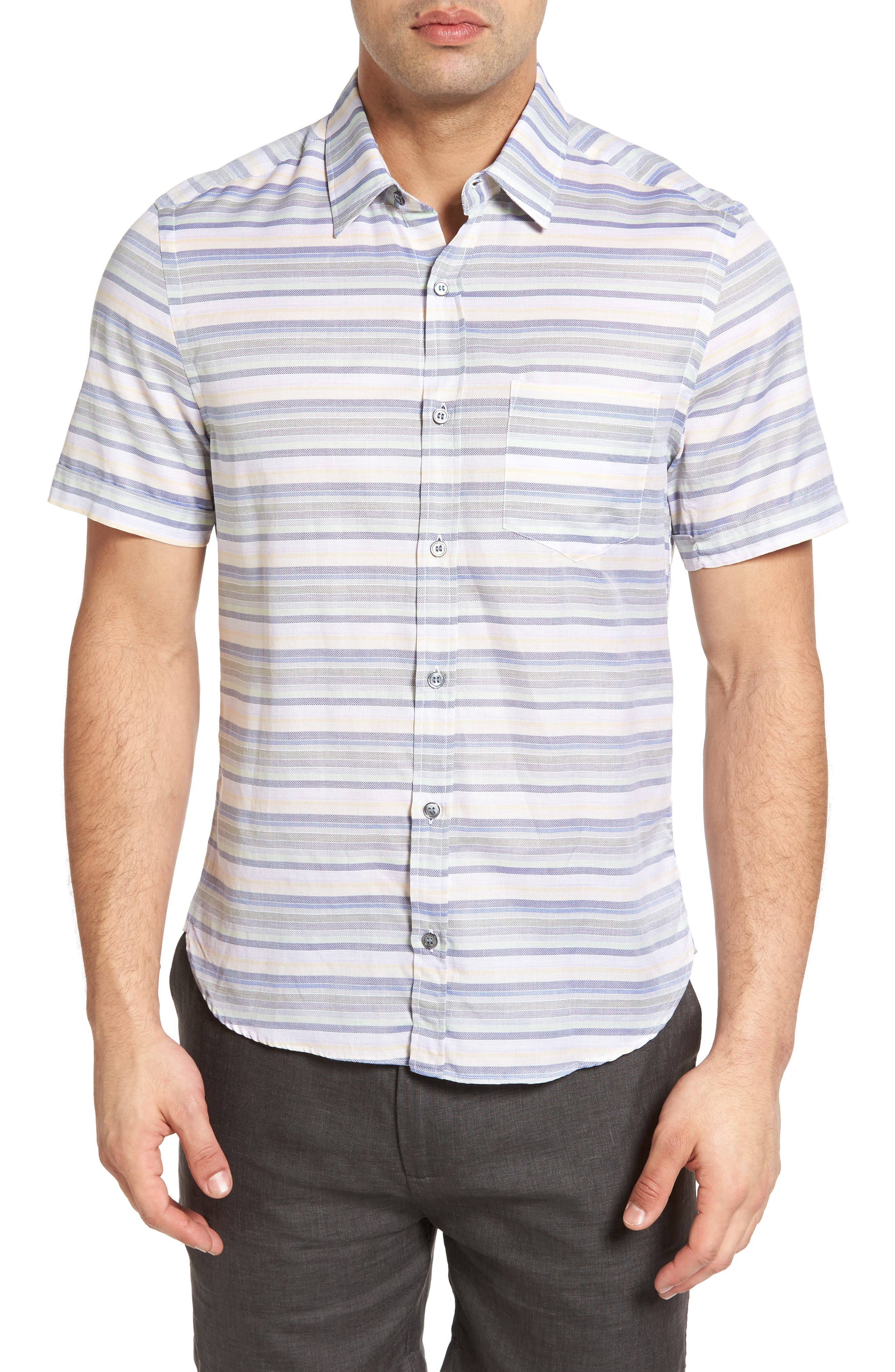 Classic Fit Sport Shirt,                         Main,                         color, Jamaica