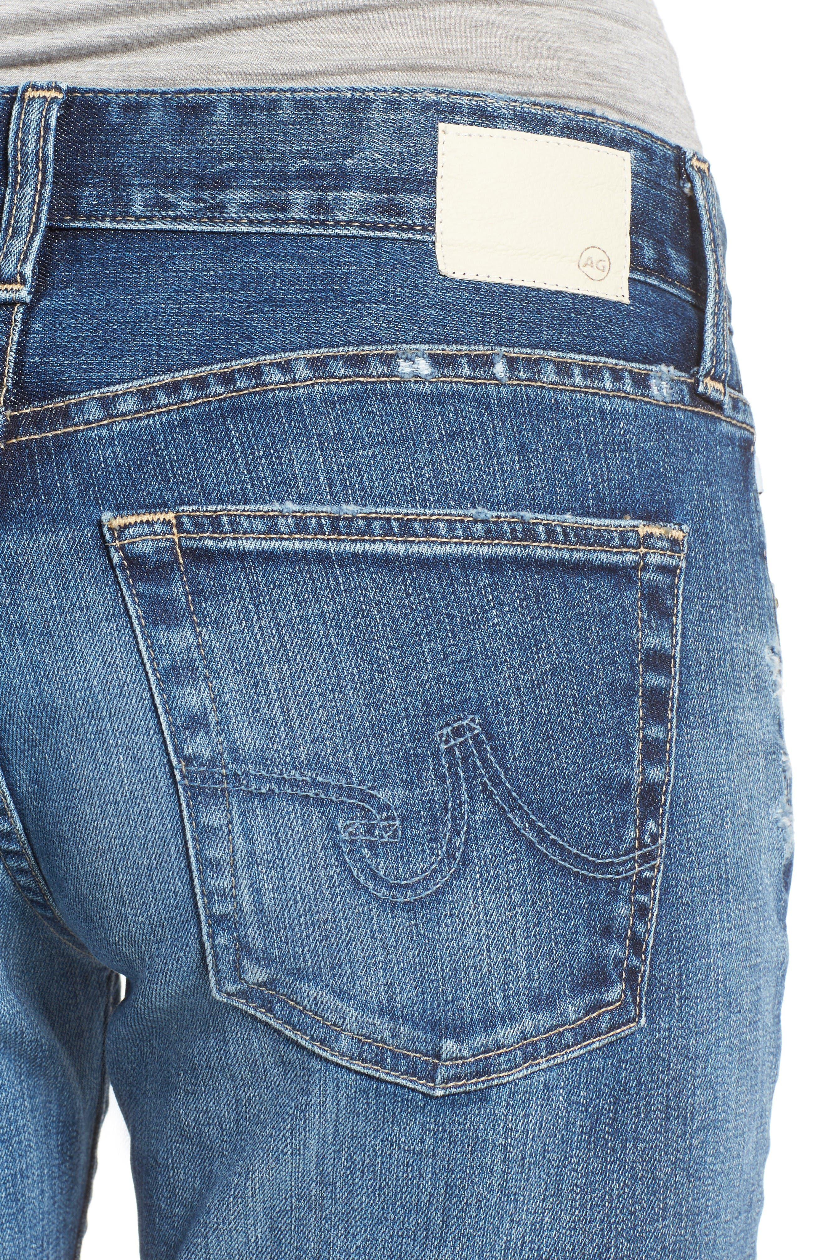 Alternate Image 4  - AG The Ex Boyfriend Crop Jeans (12 Years Blue Aura)