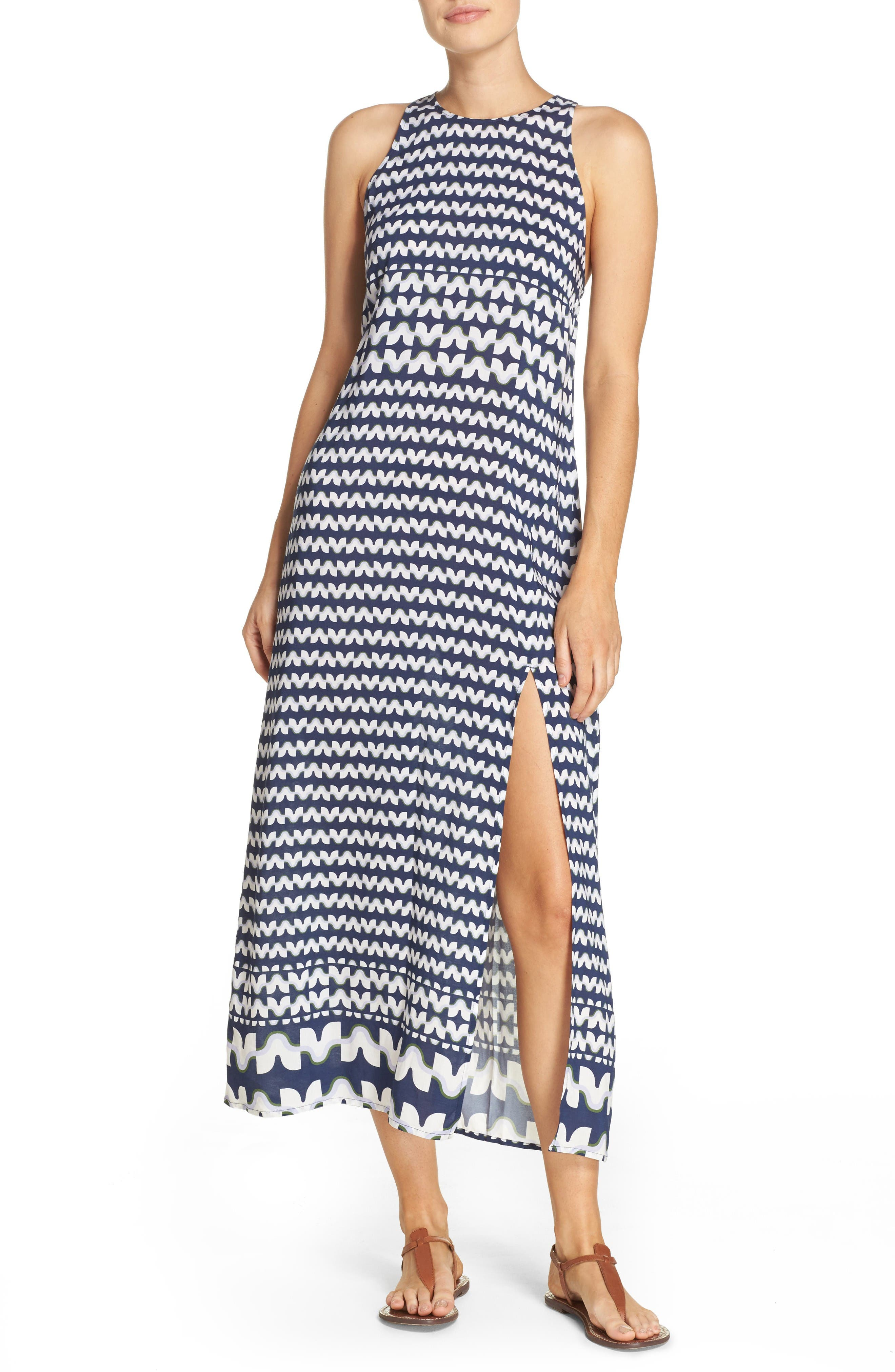 Windwell Cover-Up Maxi Dress,                         Main,                         color, Tory Navy/ Blue