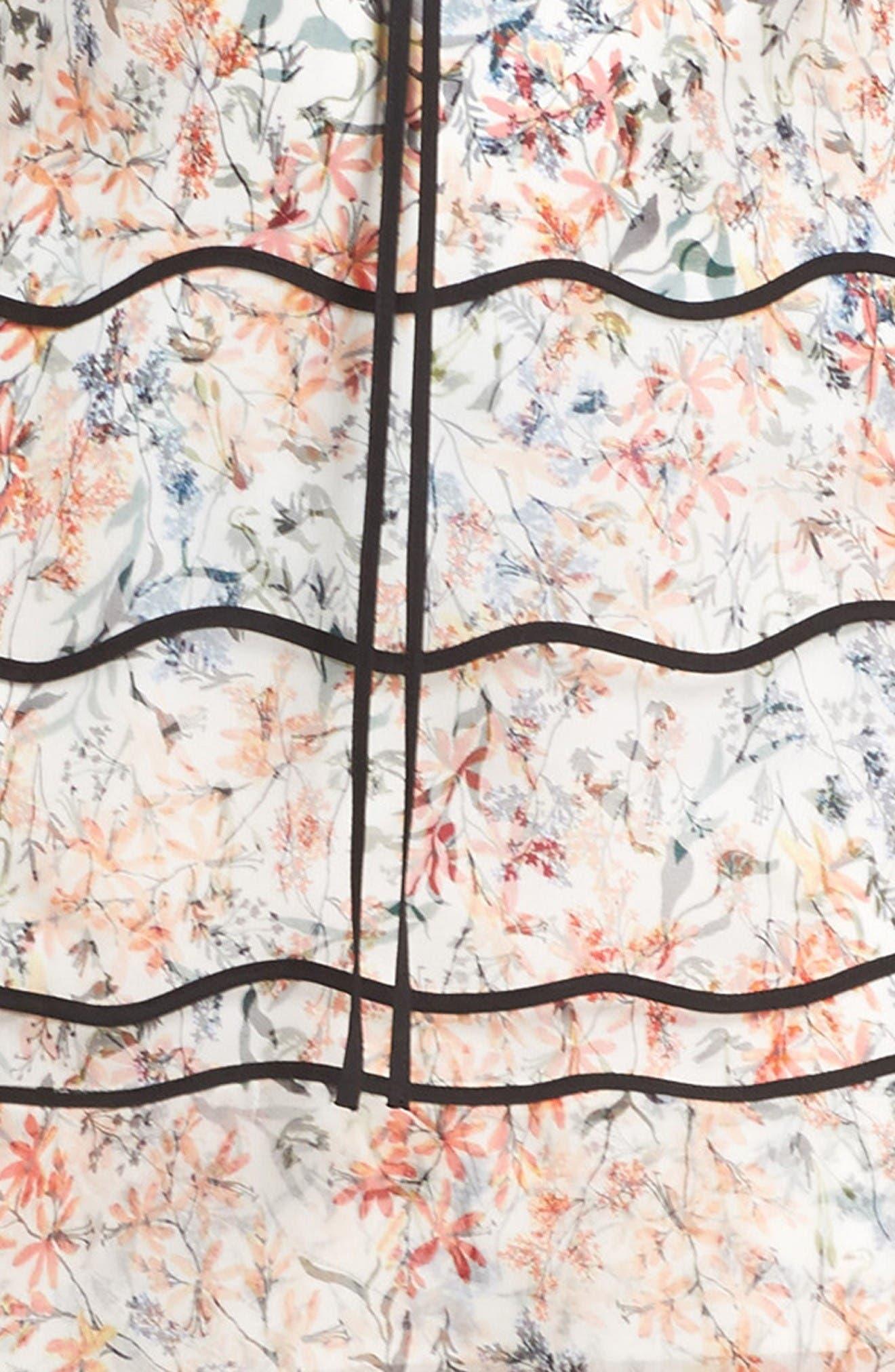 Svetlana Silk Trapeze Dress,                             Alternate thumbnail 5, color,                             Ivory