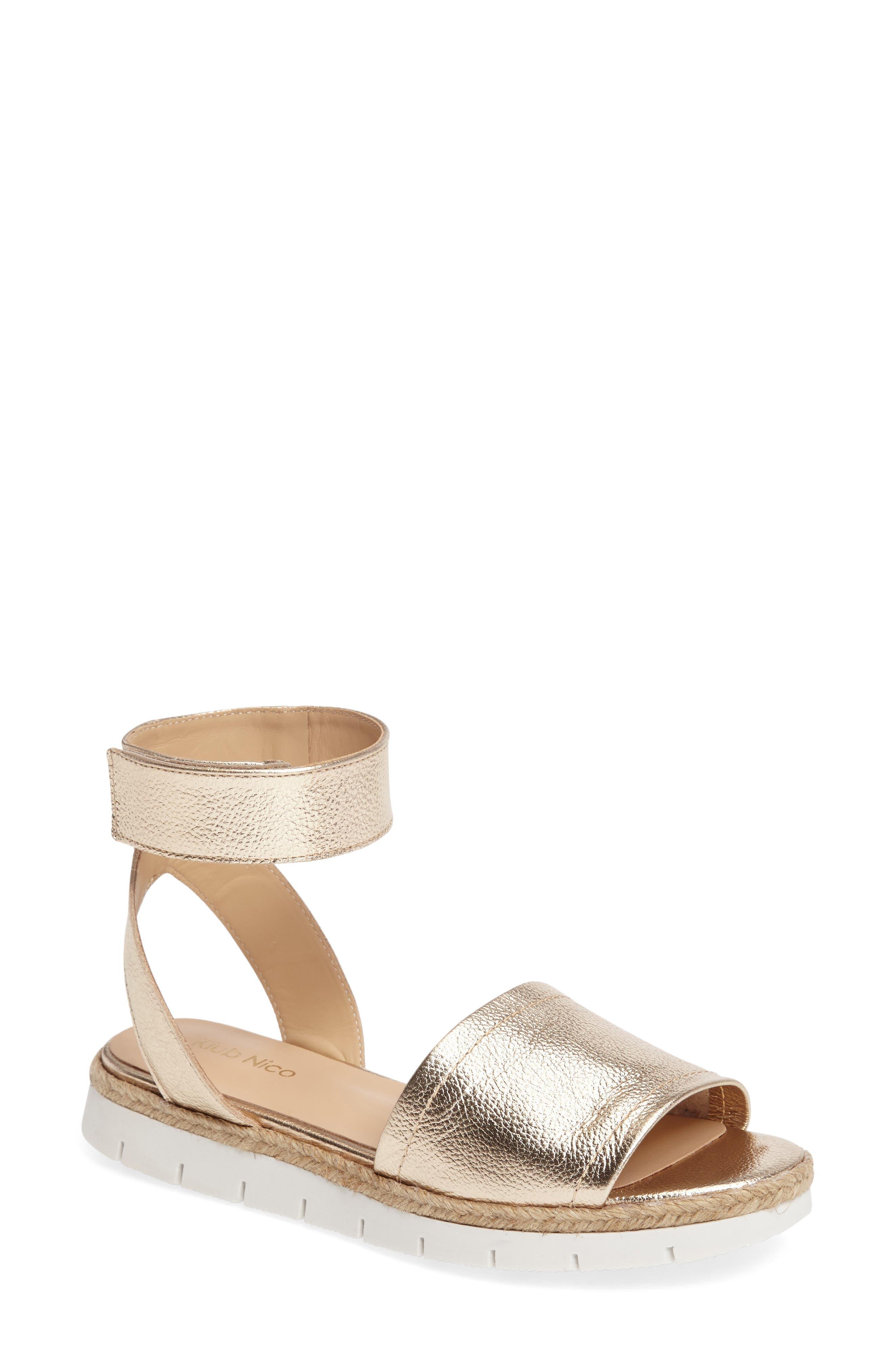 Cleo Platform Sandal,                         Main,                         color, Champagne Leather