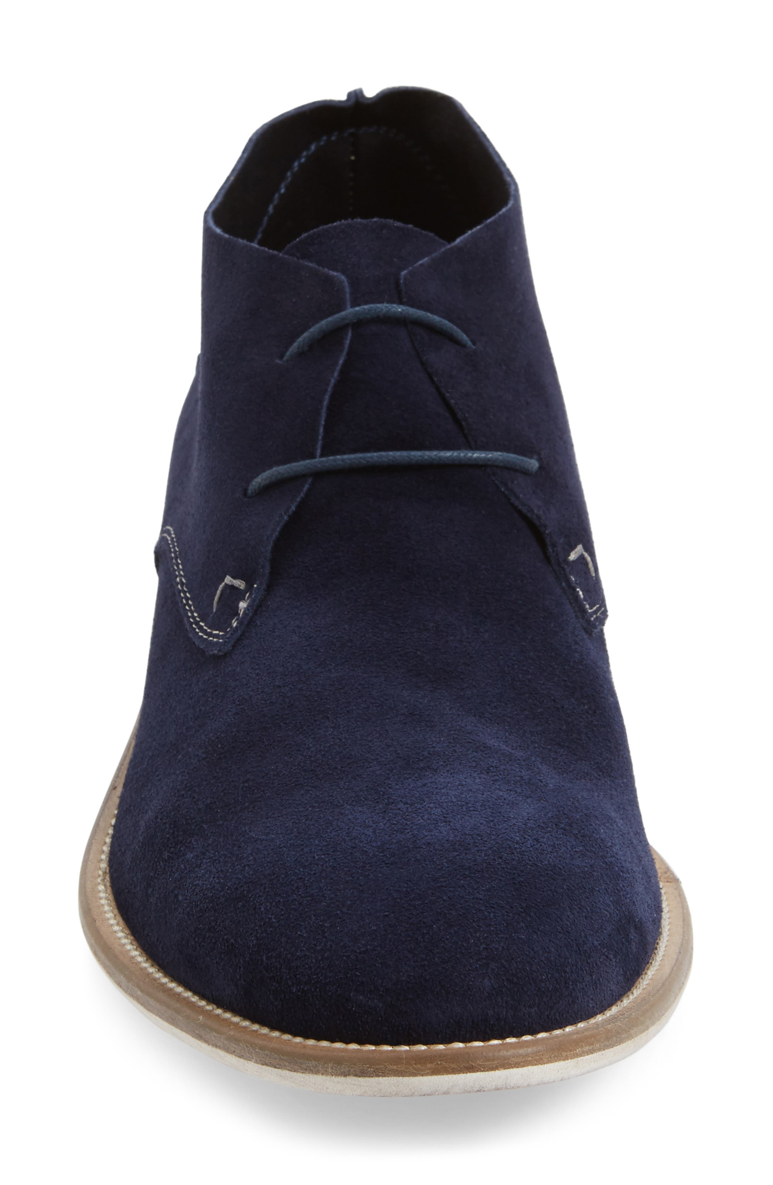 Take Comfort Chukka Boot,                             Alternate thumbnail 3, color,                             Midnight Navy Suede