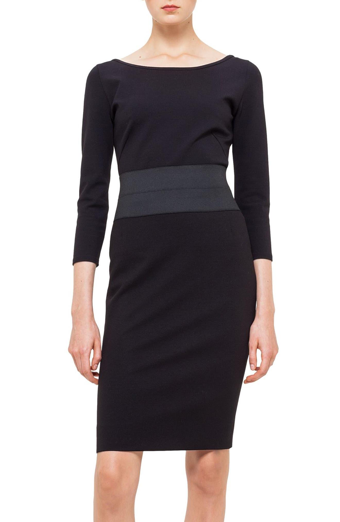 Jersey Top,                         Main,                         color, Black