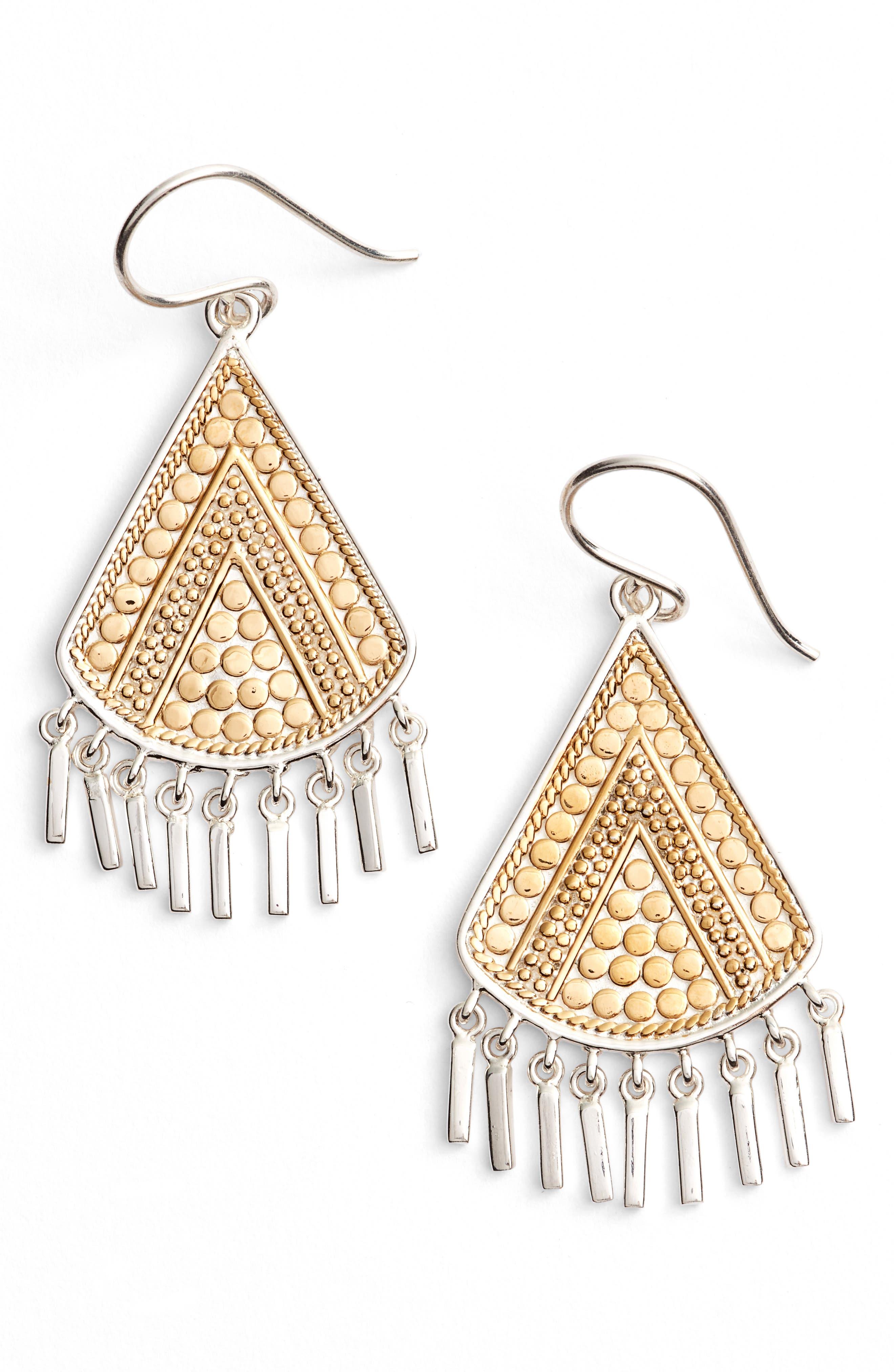 ANNA BECK Signature Beaded Fringe Drop Earrings