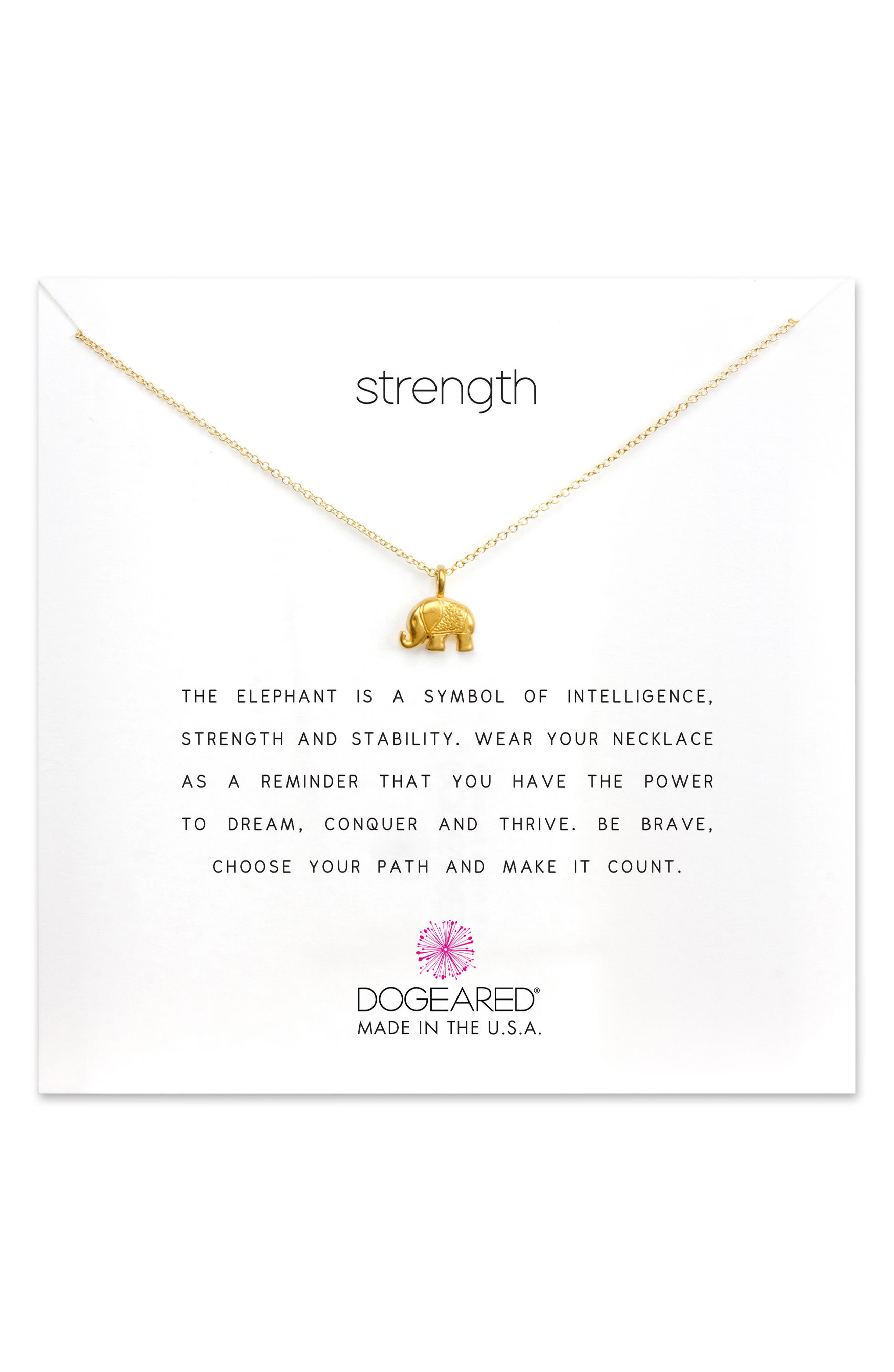 DOGEARED Reminder - Strength Pendant Necklace