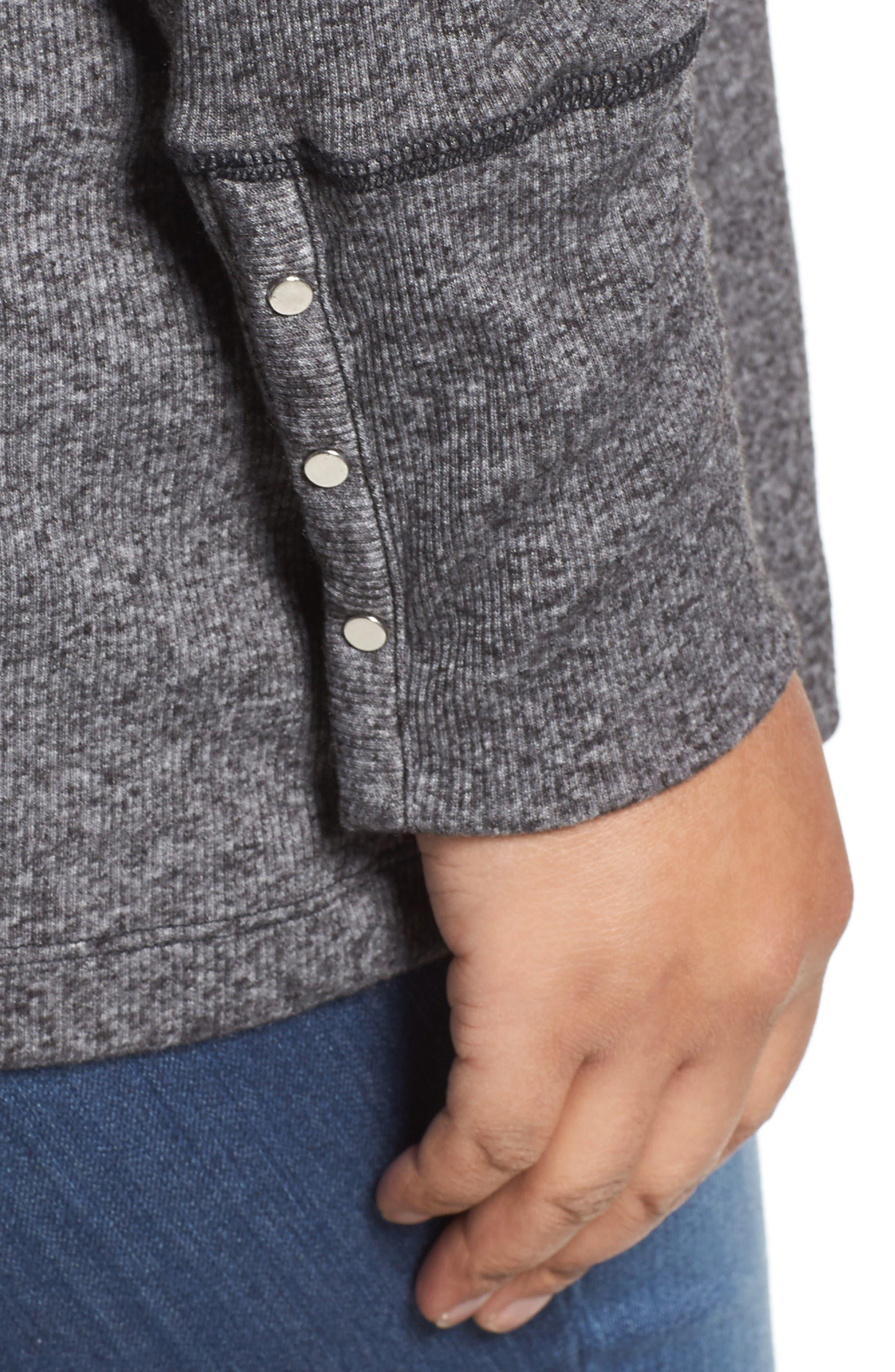 Alternate Image 4  - MICHAEL Michael Kors Marled Open Cardigan (Plus Size)