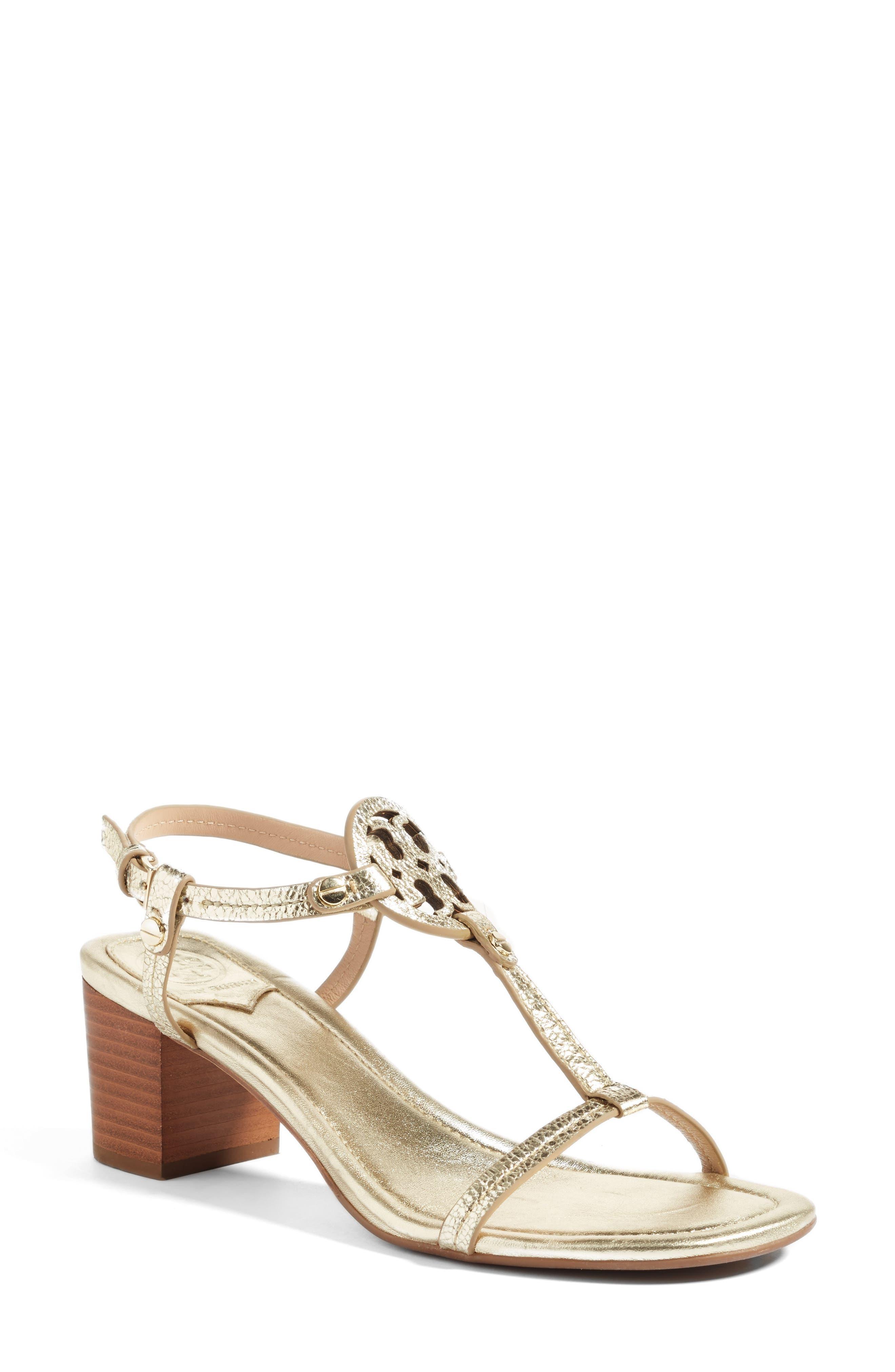 Main Image - Tory Burch Miller Block Heel Sandal (Women)