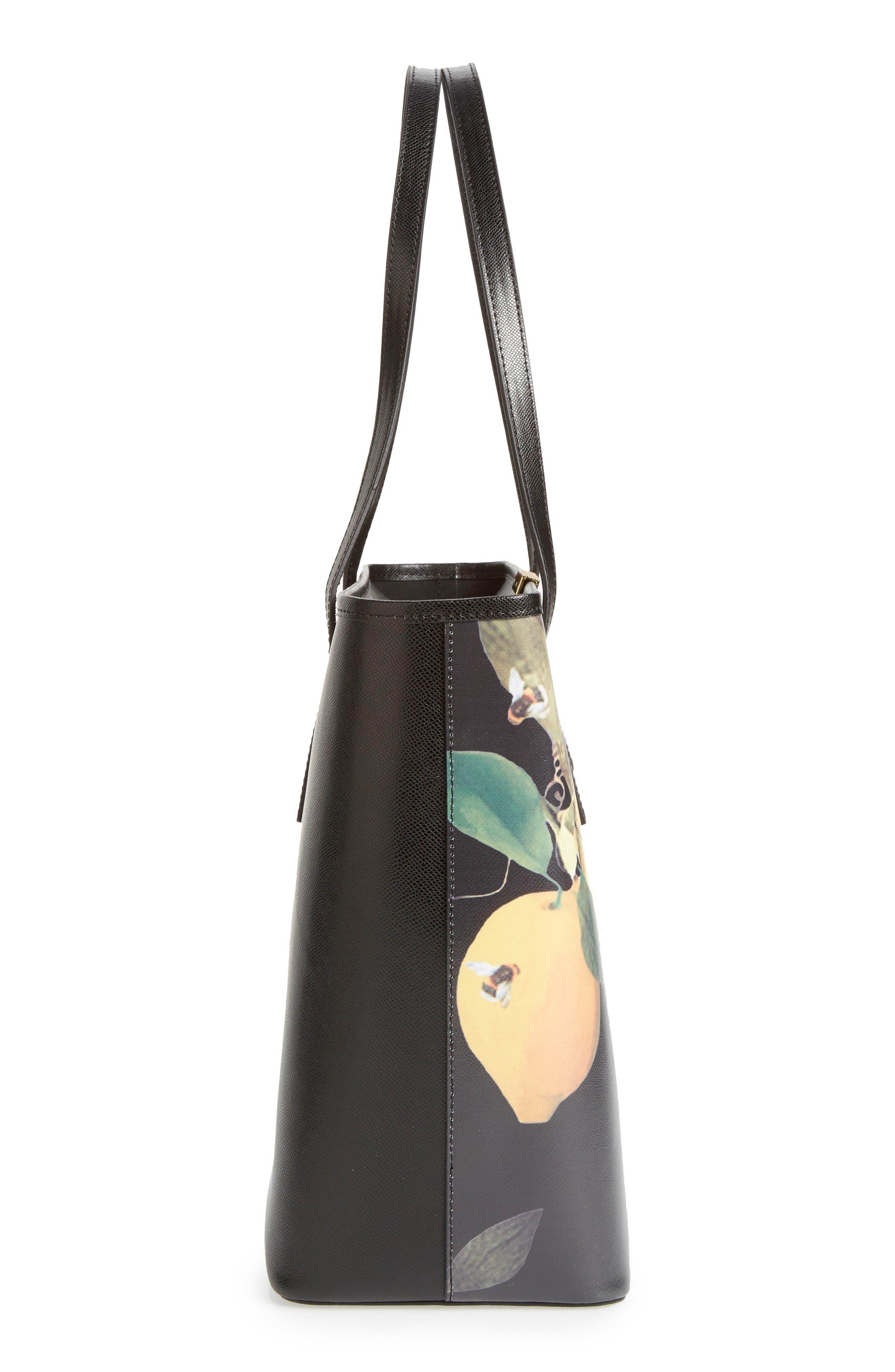 Alternate Image 4  - Ted Baker London Citrus Bloom Joanie Leather Shopper