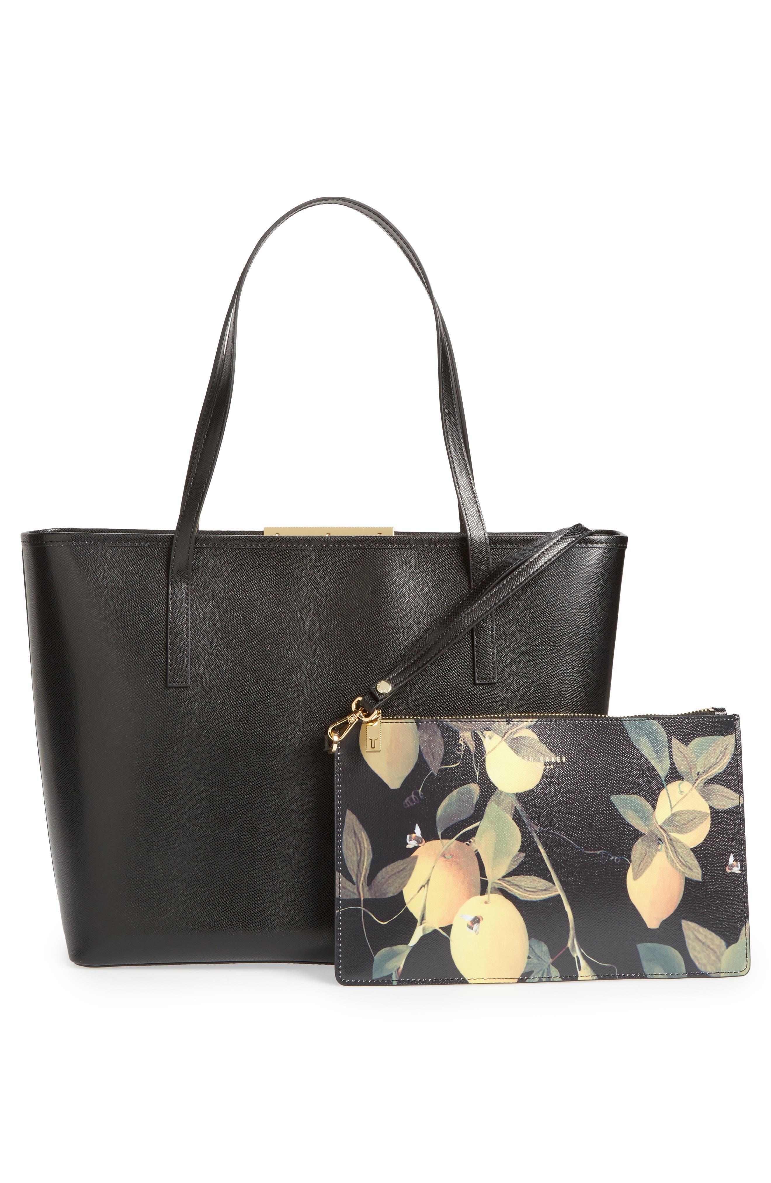 Alternate Image 2  - Ted Baker London Citrus Bloom Joanie Leather Shopper