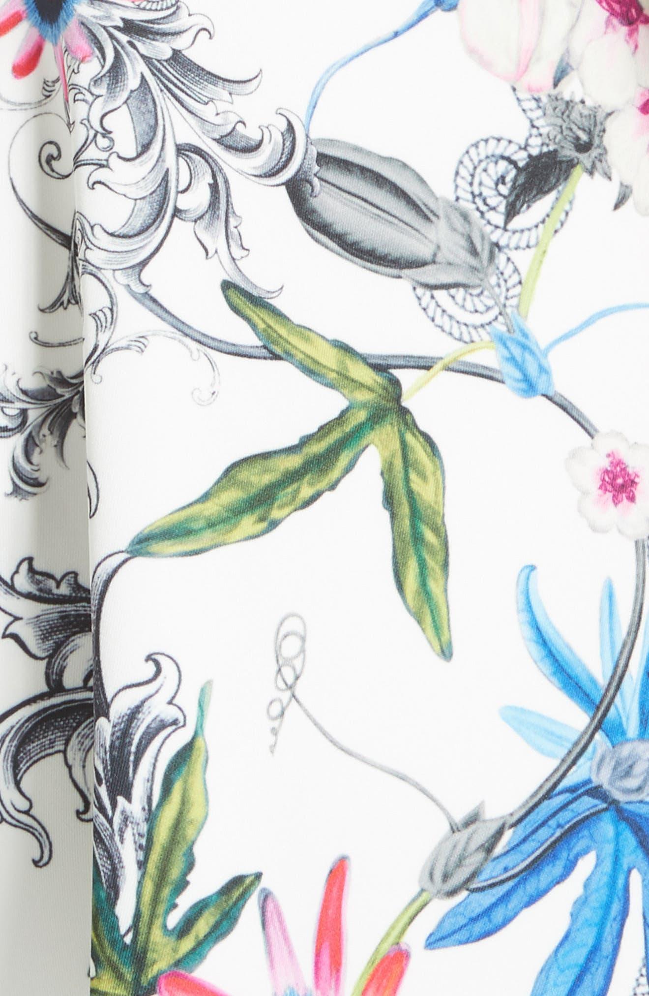 Alternate Image 5  - Ted Baker London Samm Floral Fit & Flare Dress