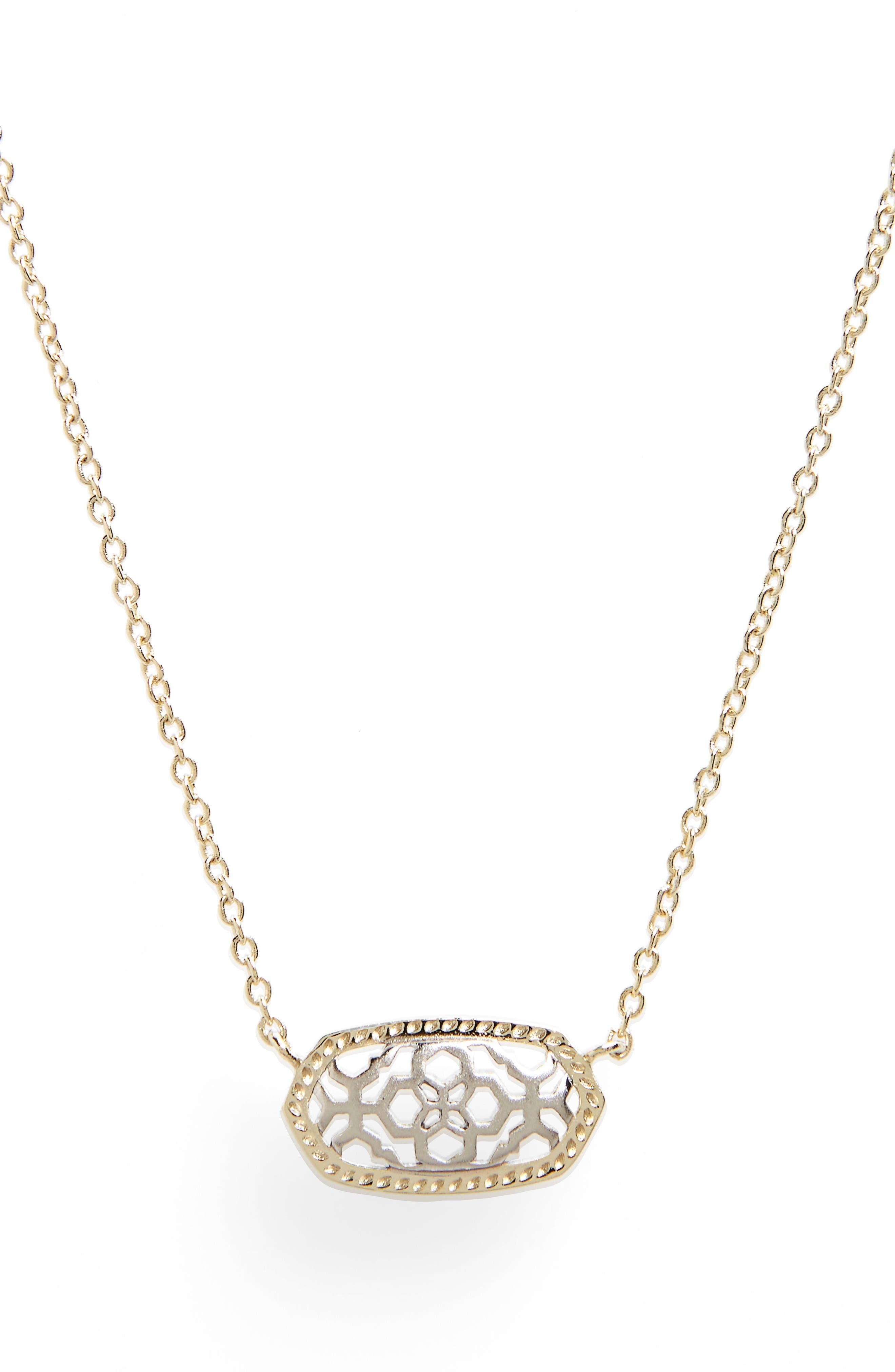Alternate Image 1 Selected - Kendra Scott Elisa Openwork Pendant Necklace