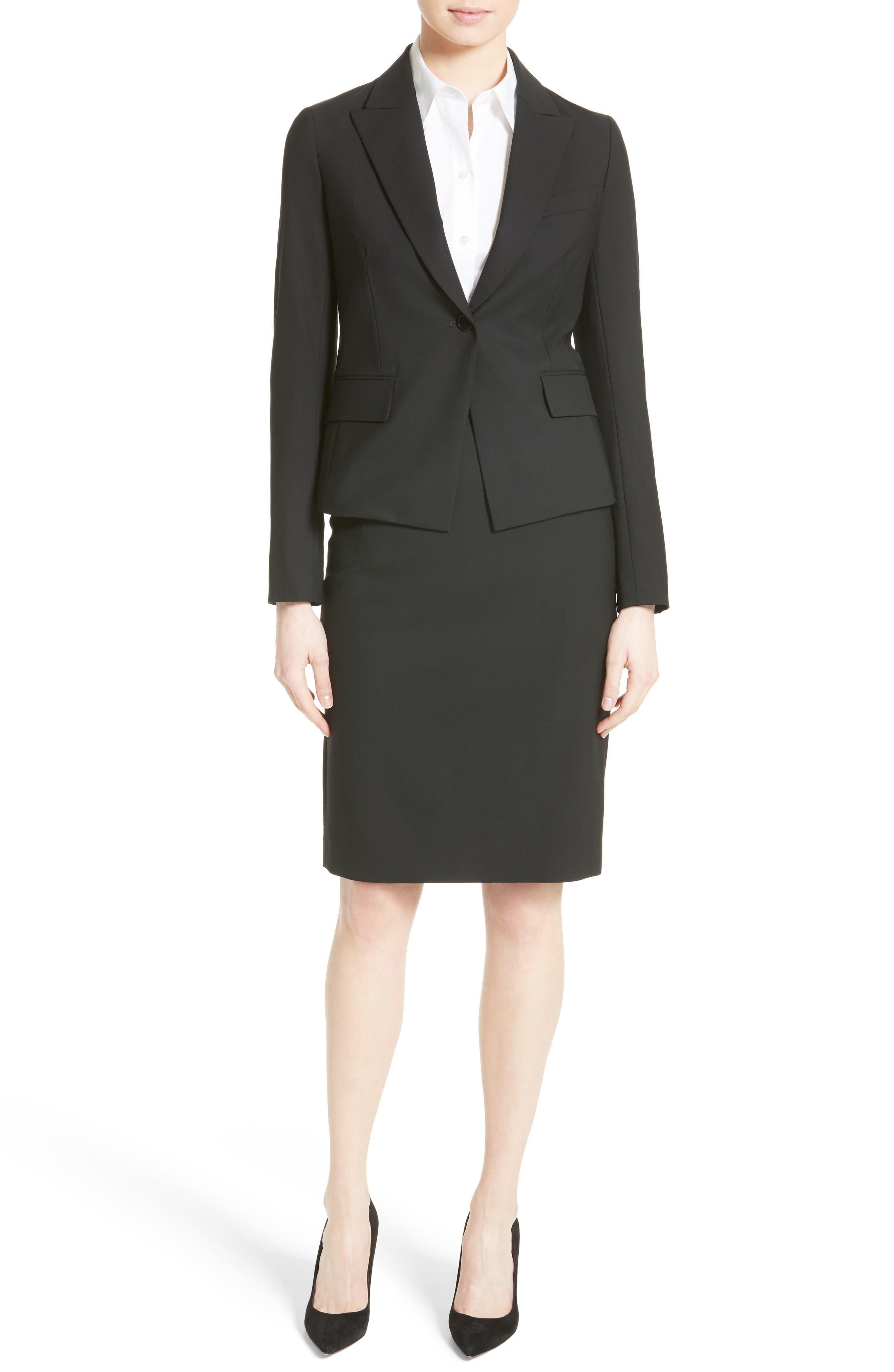 Alternate Image 2  - Theory Hemdall B Good Wool Suit Skirt (Nordstrom Exclusive)