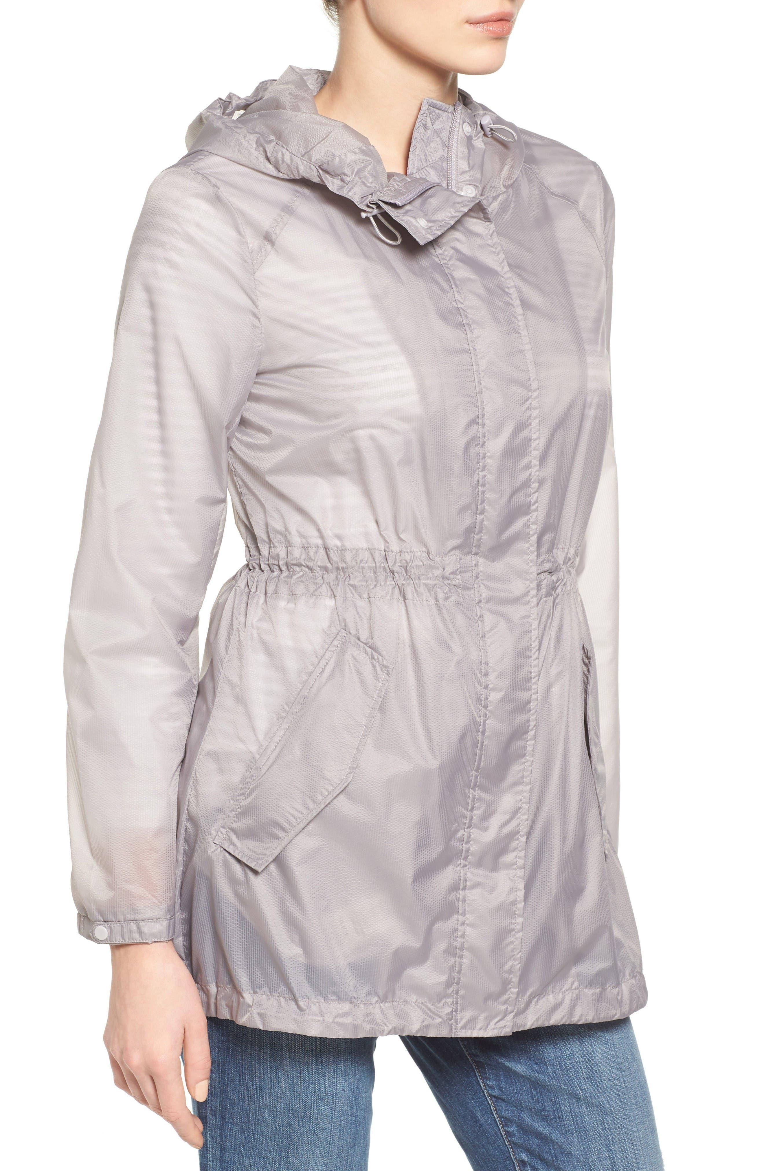 Teri Translucent Rain Jacket,                             Alternate thumbnail 3, color,                             Fog