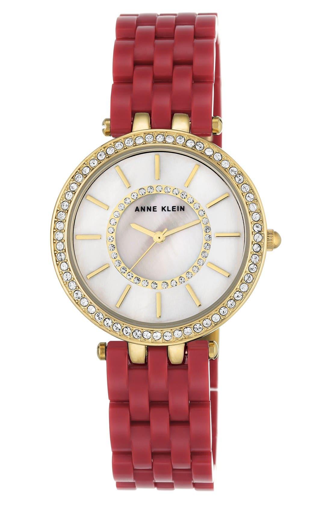 Main Image - Anne Klein Bracelet Watch, 34mm