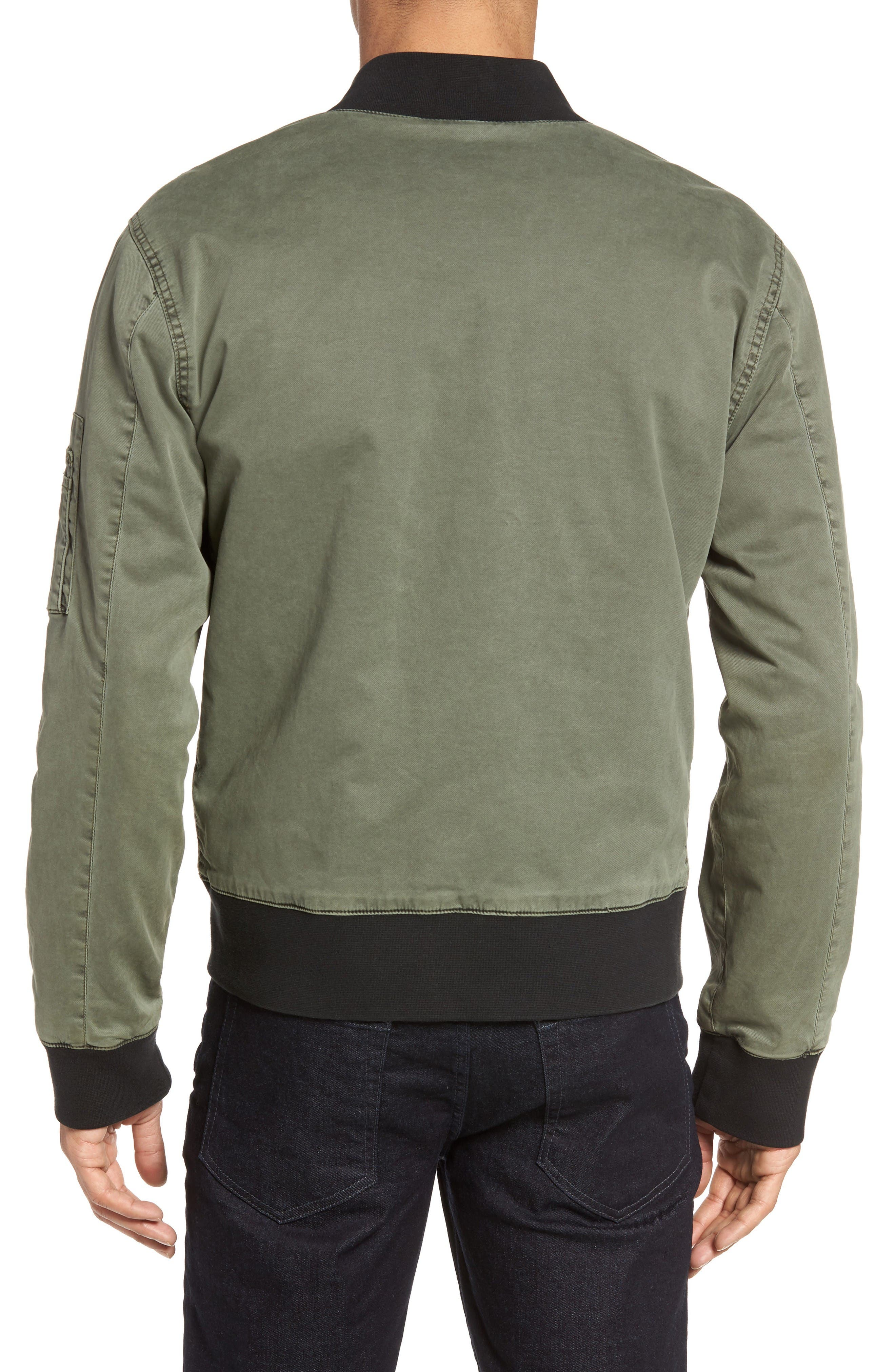 Knox Twill Bomber Jacket,                             Alternate thumbnail 2, color,                             Infantry Green
