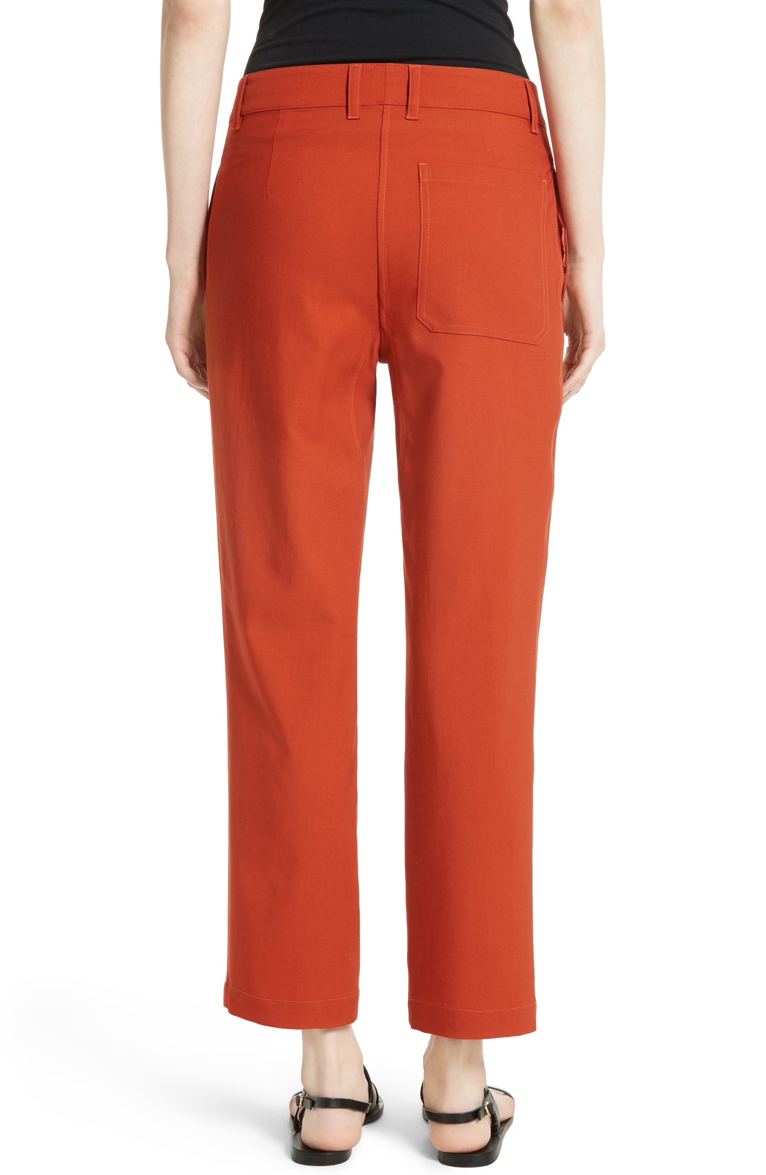 Thorelle B New Stretch Wool Pants,                             Alternate thumbnail 2, color,                             Dark Marmalade