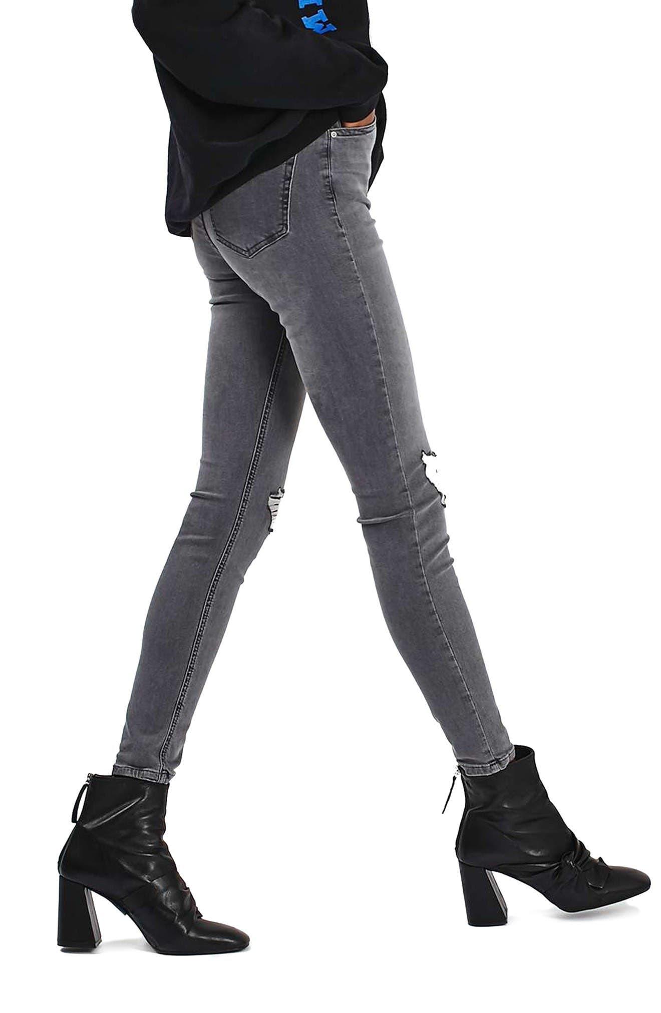 Alternate Image 4  - Topshop 'Jamie' Ripped Ankle Skinny Jeans (Regular & Tall)