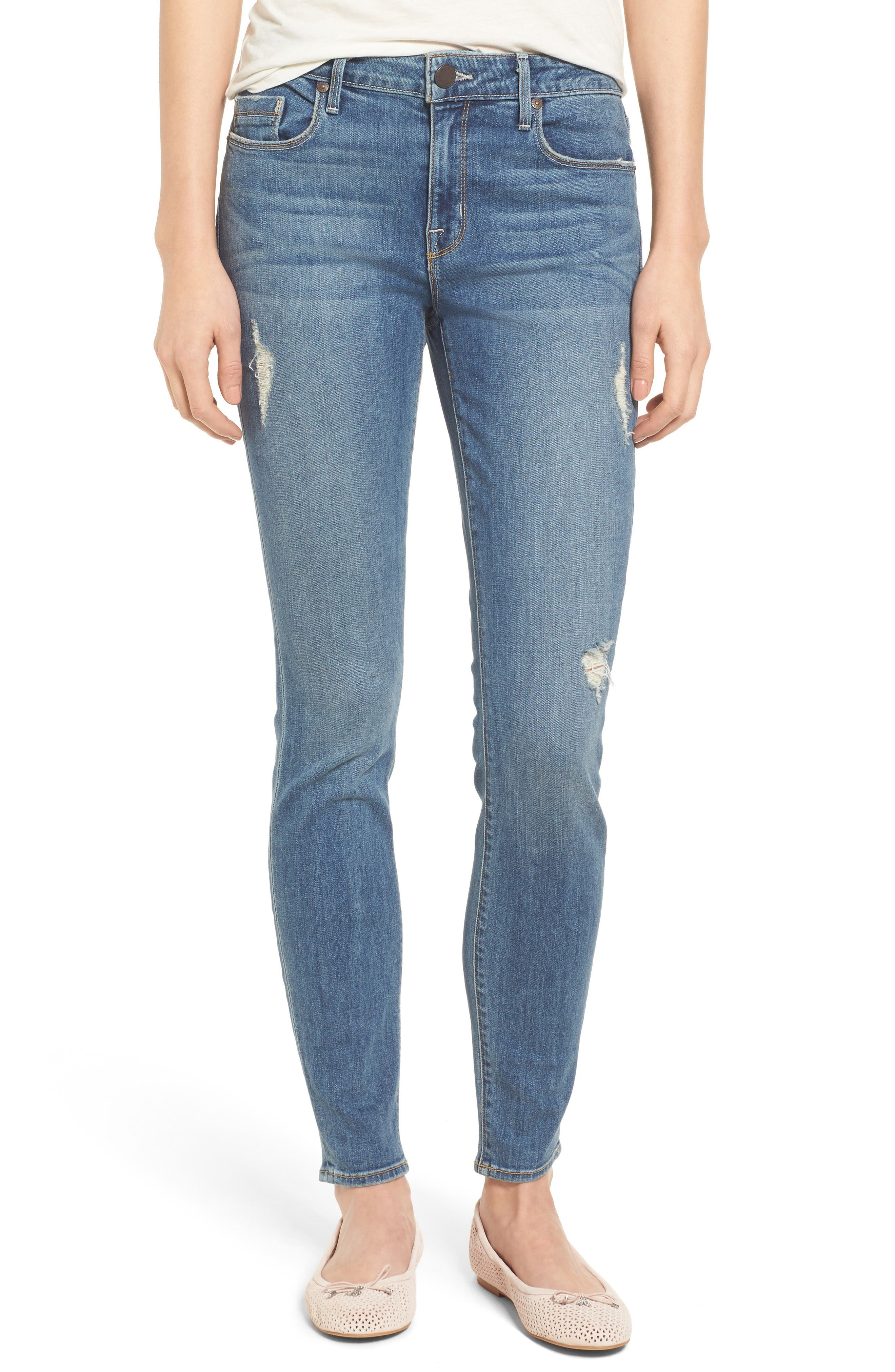 Ava Stretch Skinny Jeans,                         Main,                         color, Liverpool