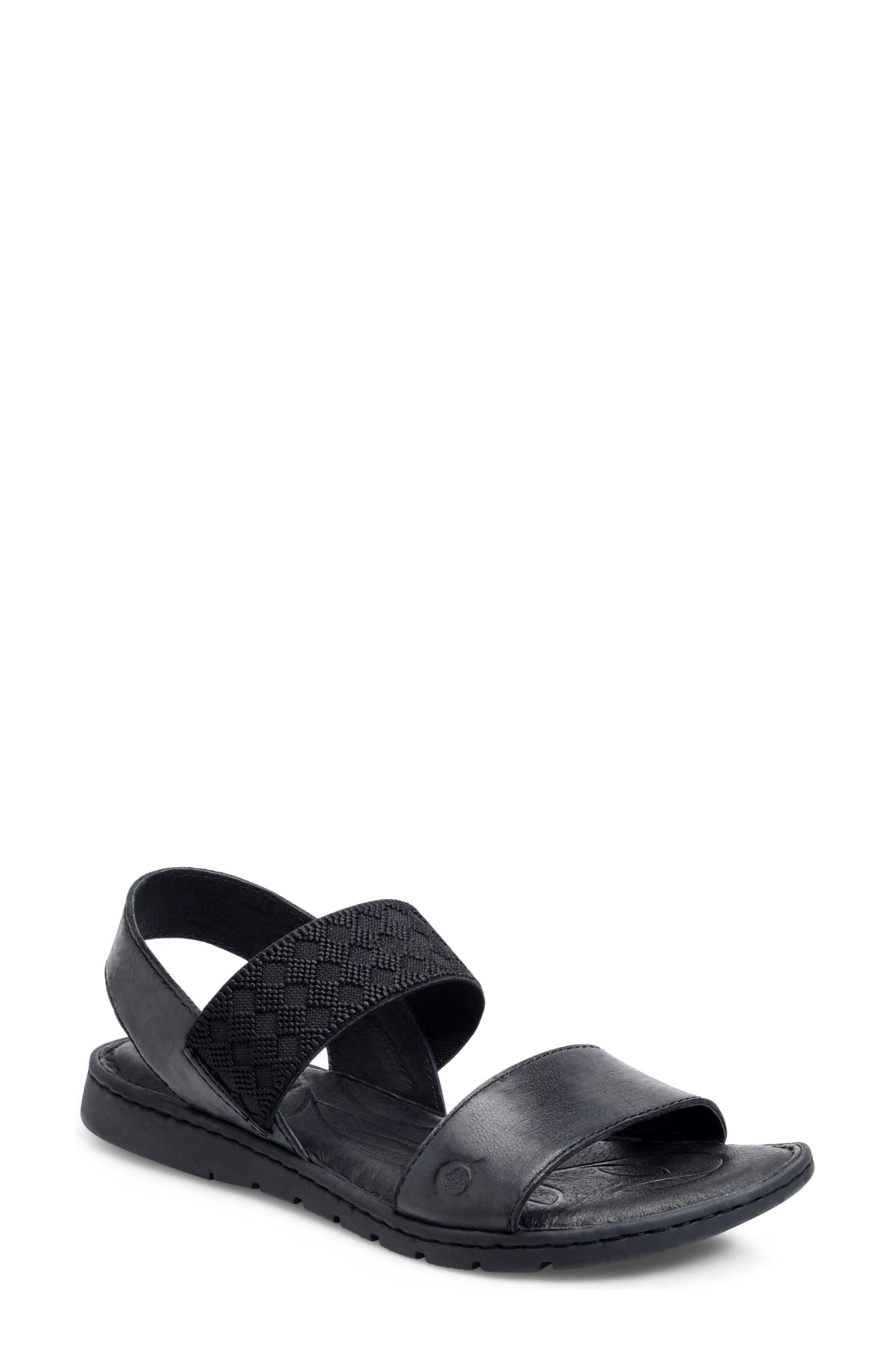 Parsons Sandal,                             Main thumbnail 1, color,                             Black Full Grain Leather