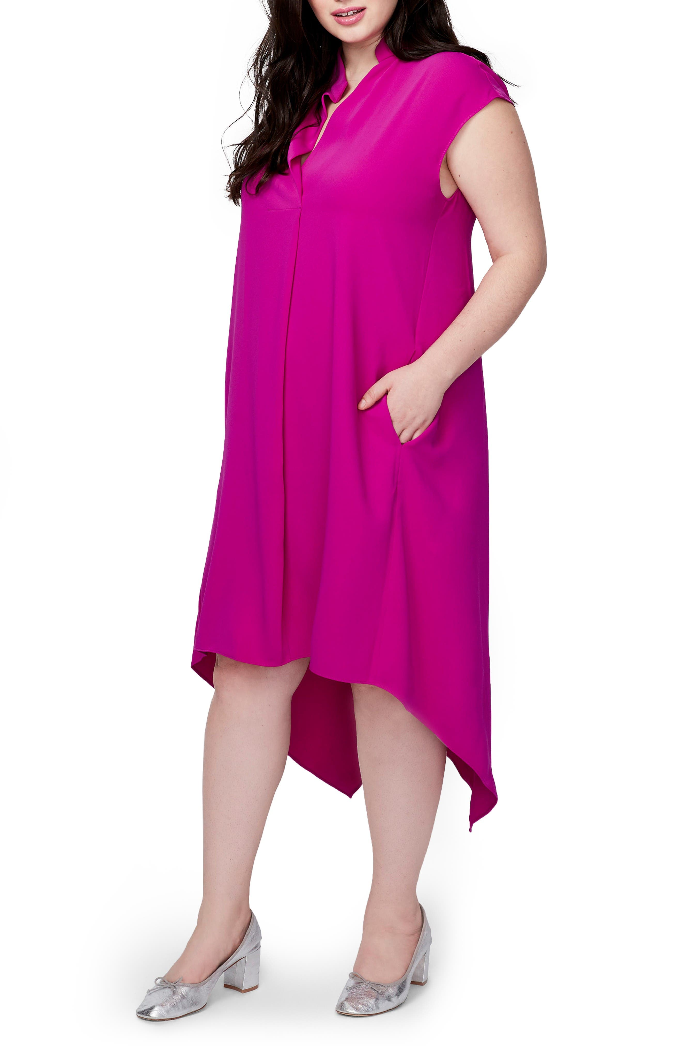 Main Image - RACHEL Rachel Roy Harper Handkerchief Hem Dress (Plus Size)