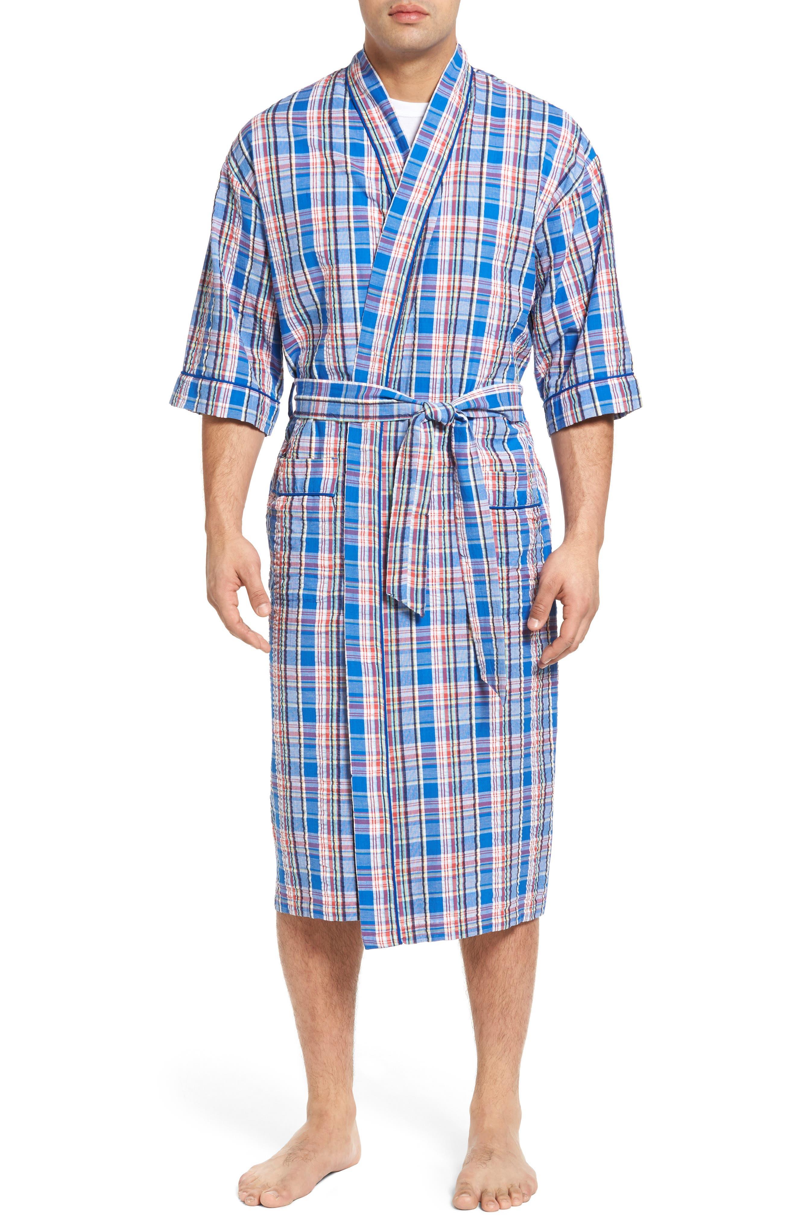 Sunshine Robe,                         Main,                         color, Royal Plaid