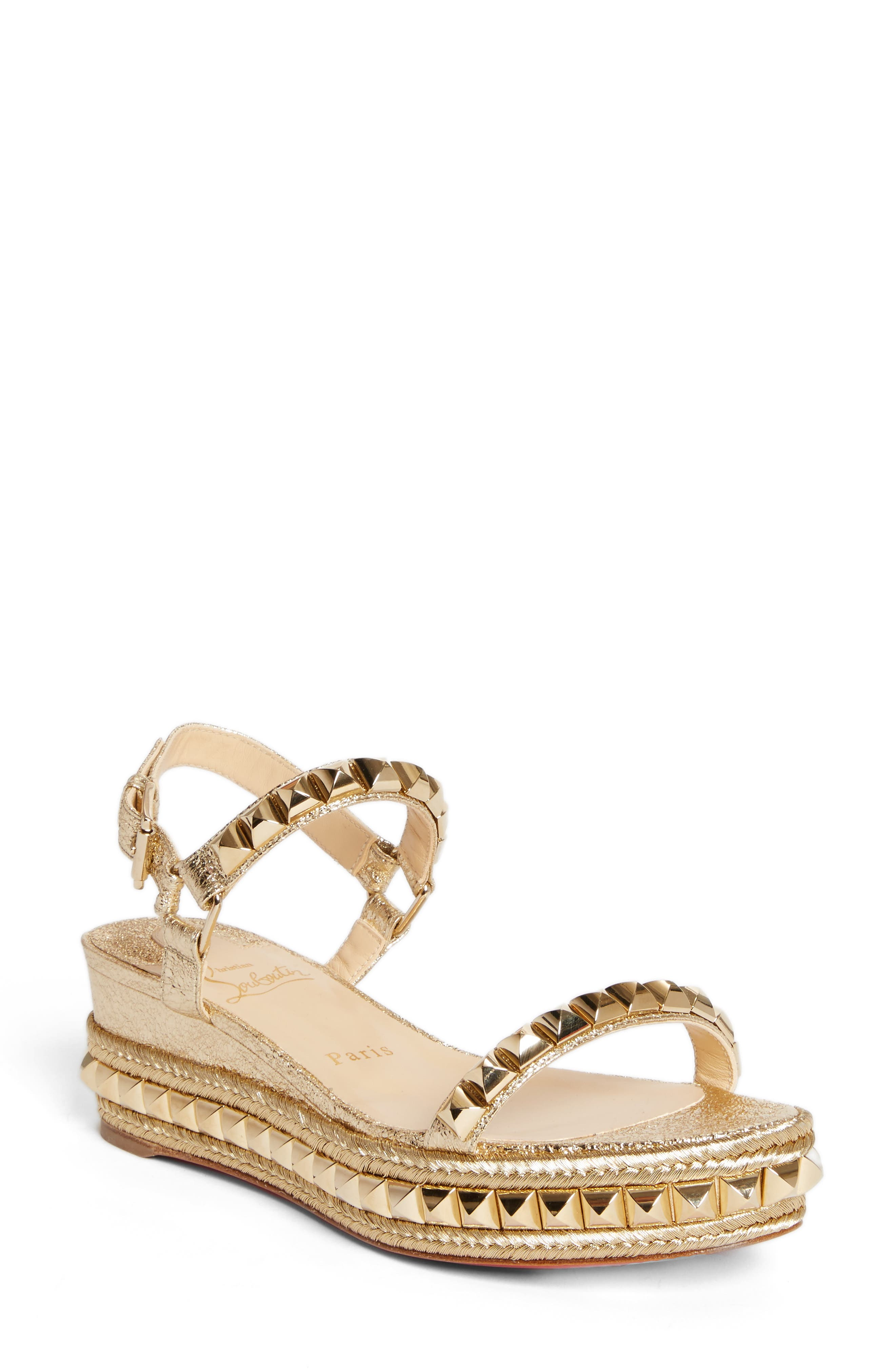 Alternate Image 1 Selected - Christian Louboutin Cataclou Espadrille Wedge Sandal