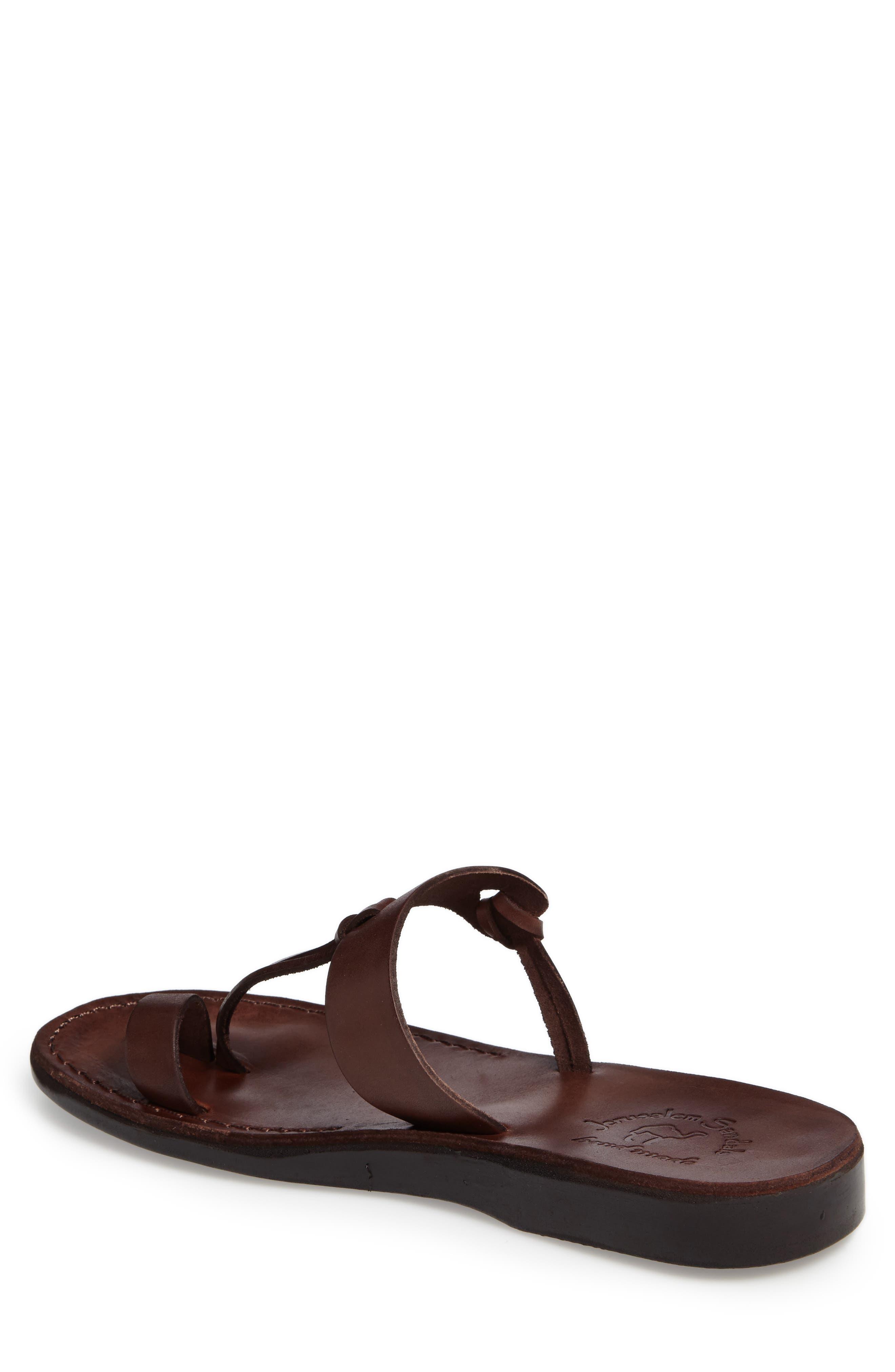 David Toe-Loop Sandal,                             Alternate thumbnail 2, color,                             Brown Leather