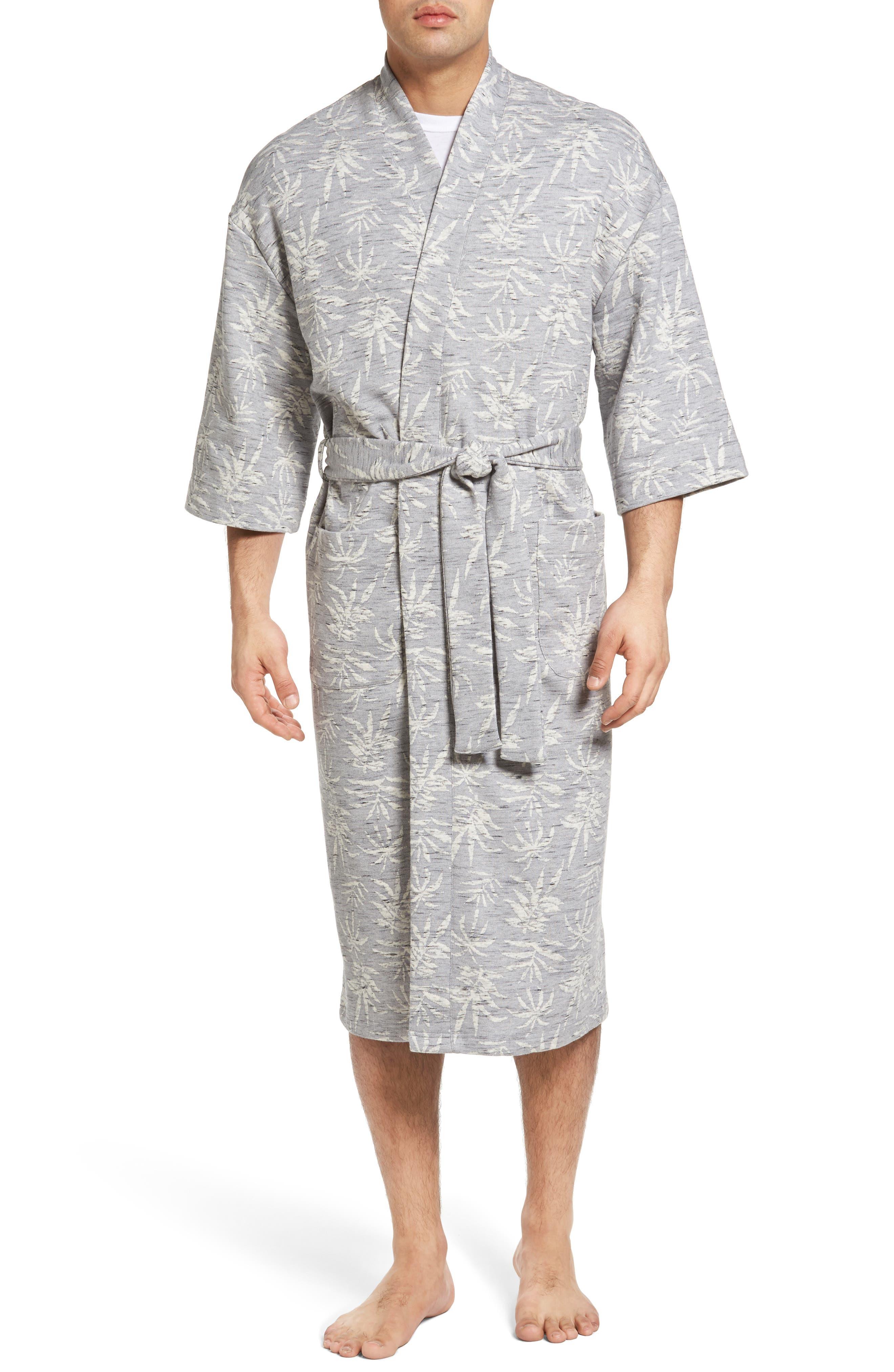 Vintage Tropical Robe,                         Main,                         color, Grey