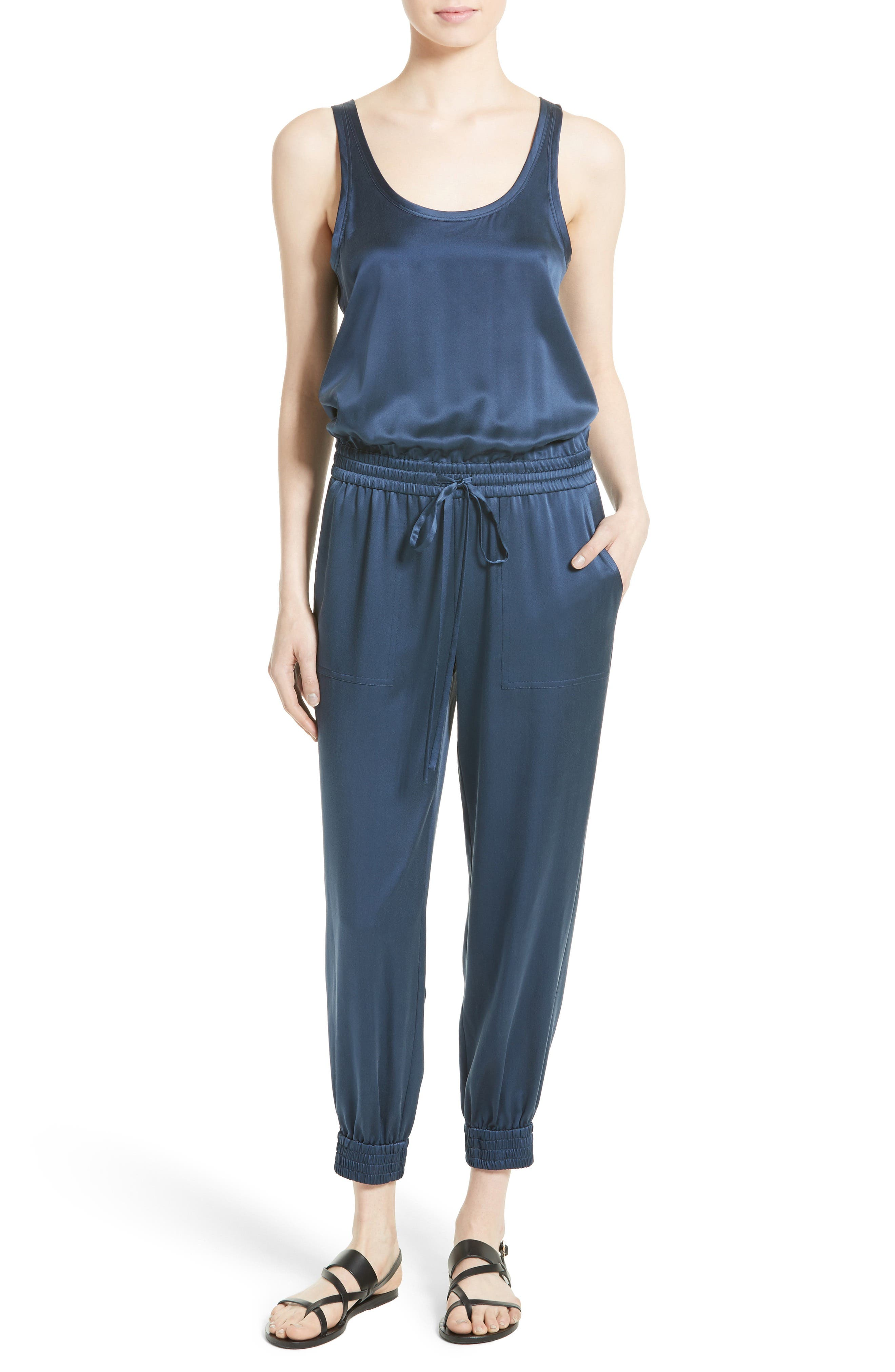 Main Image - Theory Hekuba Silk Jumpsuit