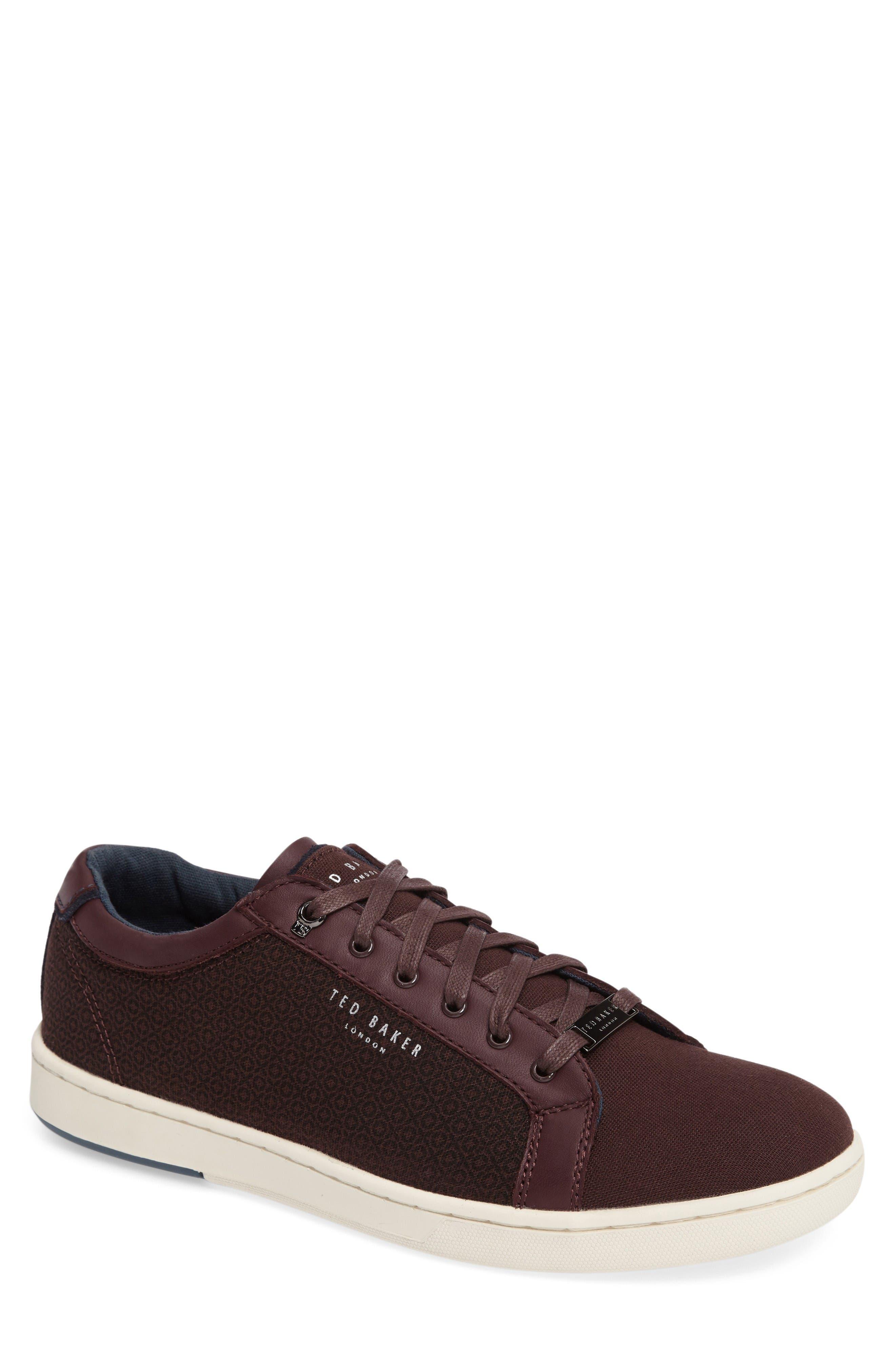 Ternur Geo Print Sneaker,                         Main,                         color, Dark Red