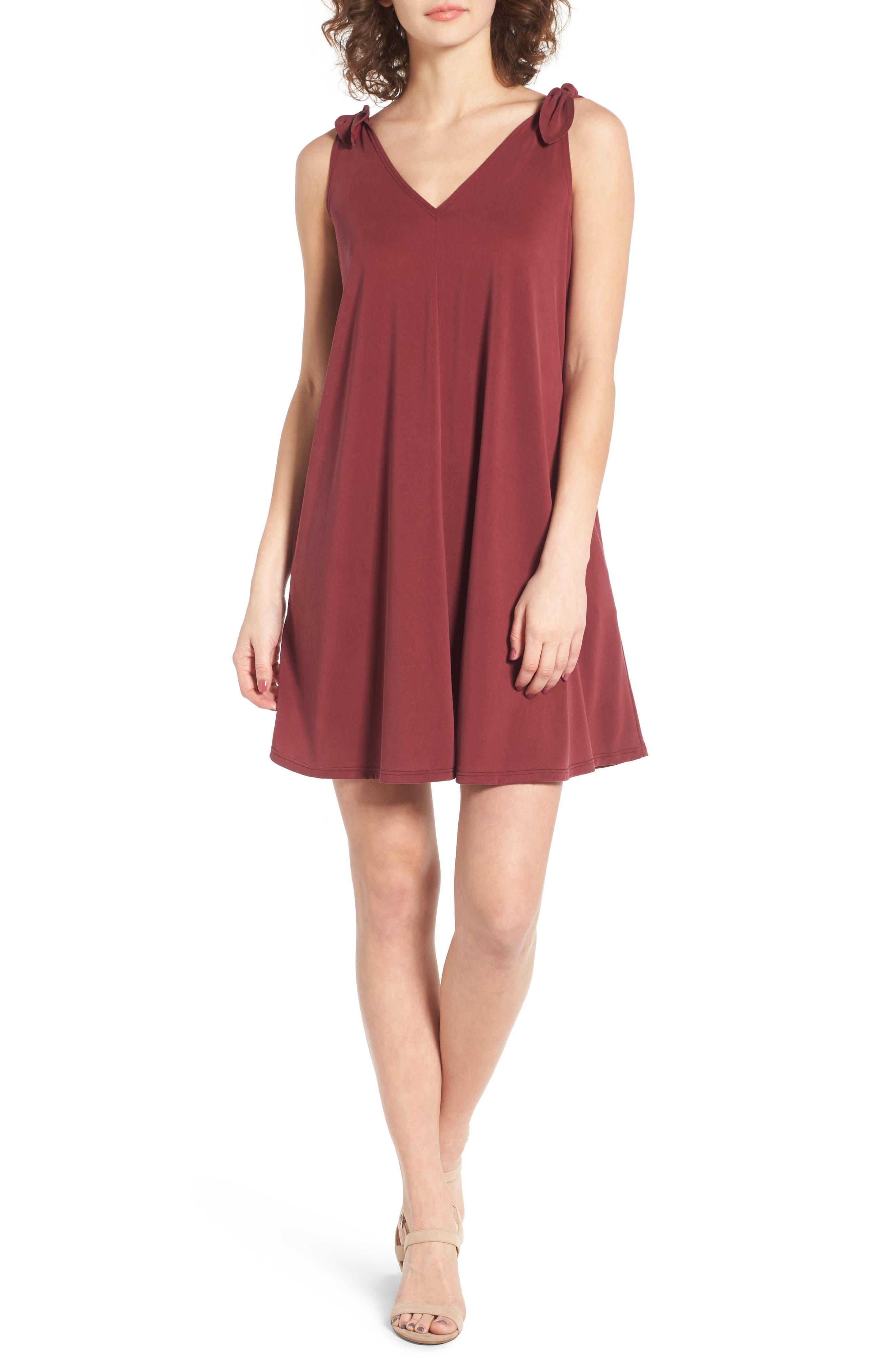 Alternate Image 1 Selected - Soprano Shoulder Tie Dress