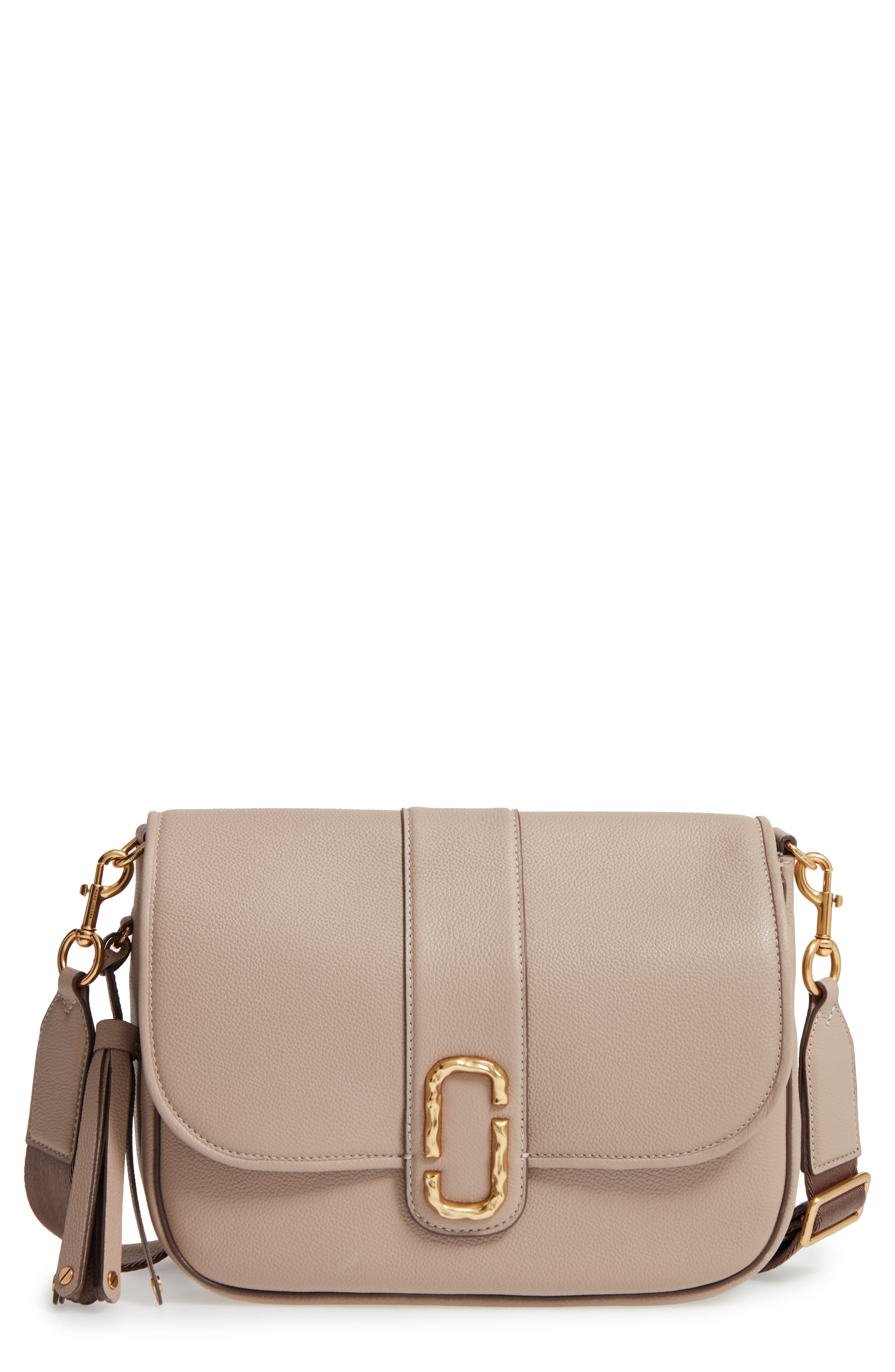 Alternate Image 1 Selected - MARC JACOBS Interlock Leather Crossbody Bag